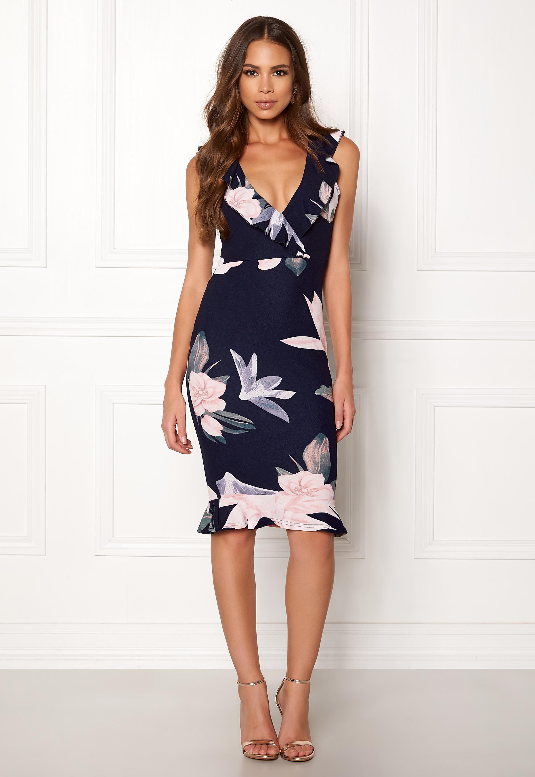 9d5517b5b682 Floral Bodycon Midi Dress Ax Paris