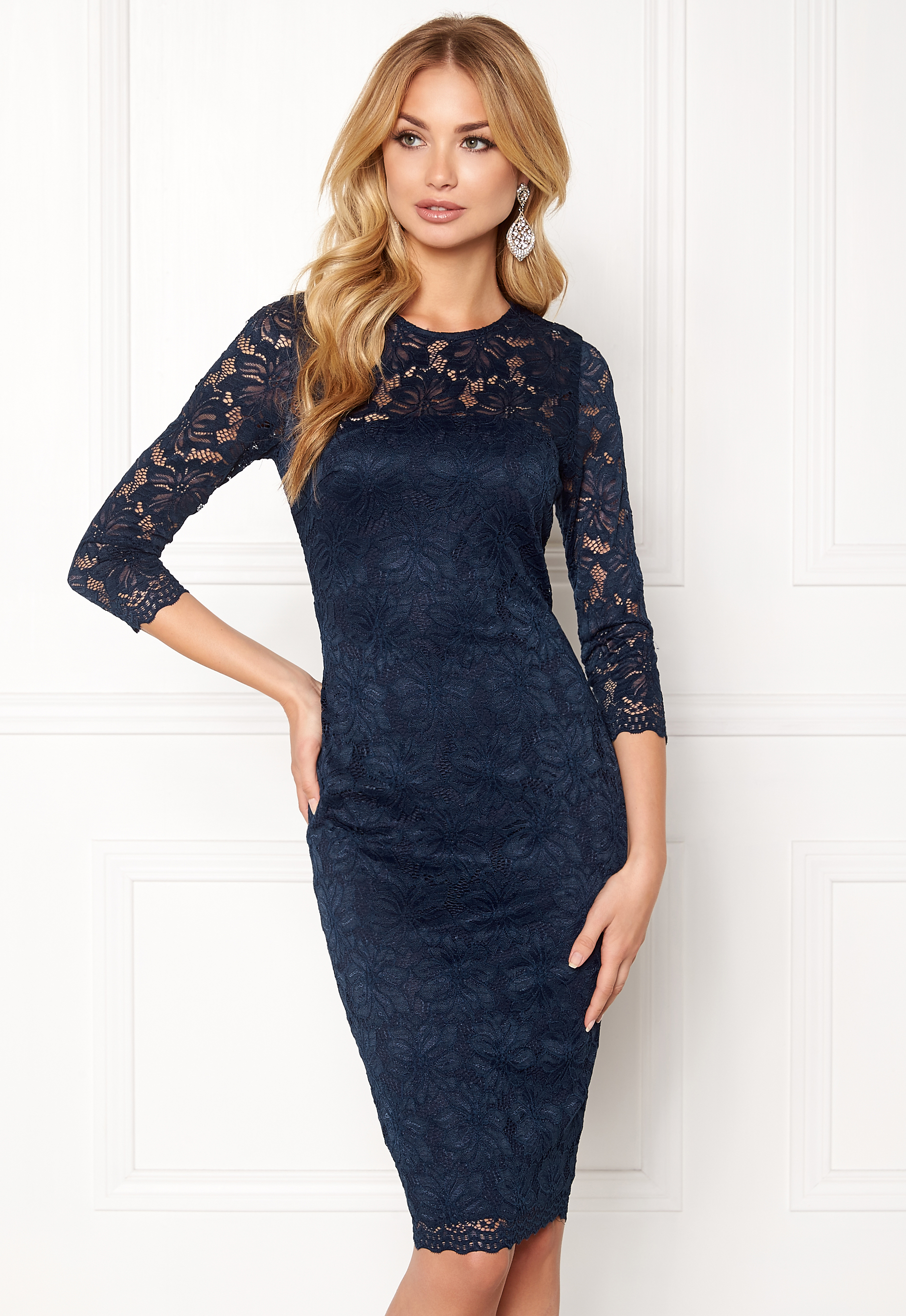Shapes ax paris lace bodycon midi dress