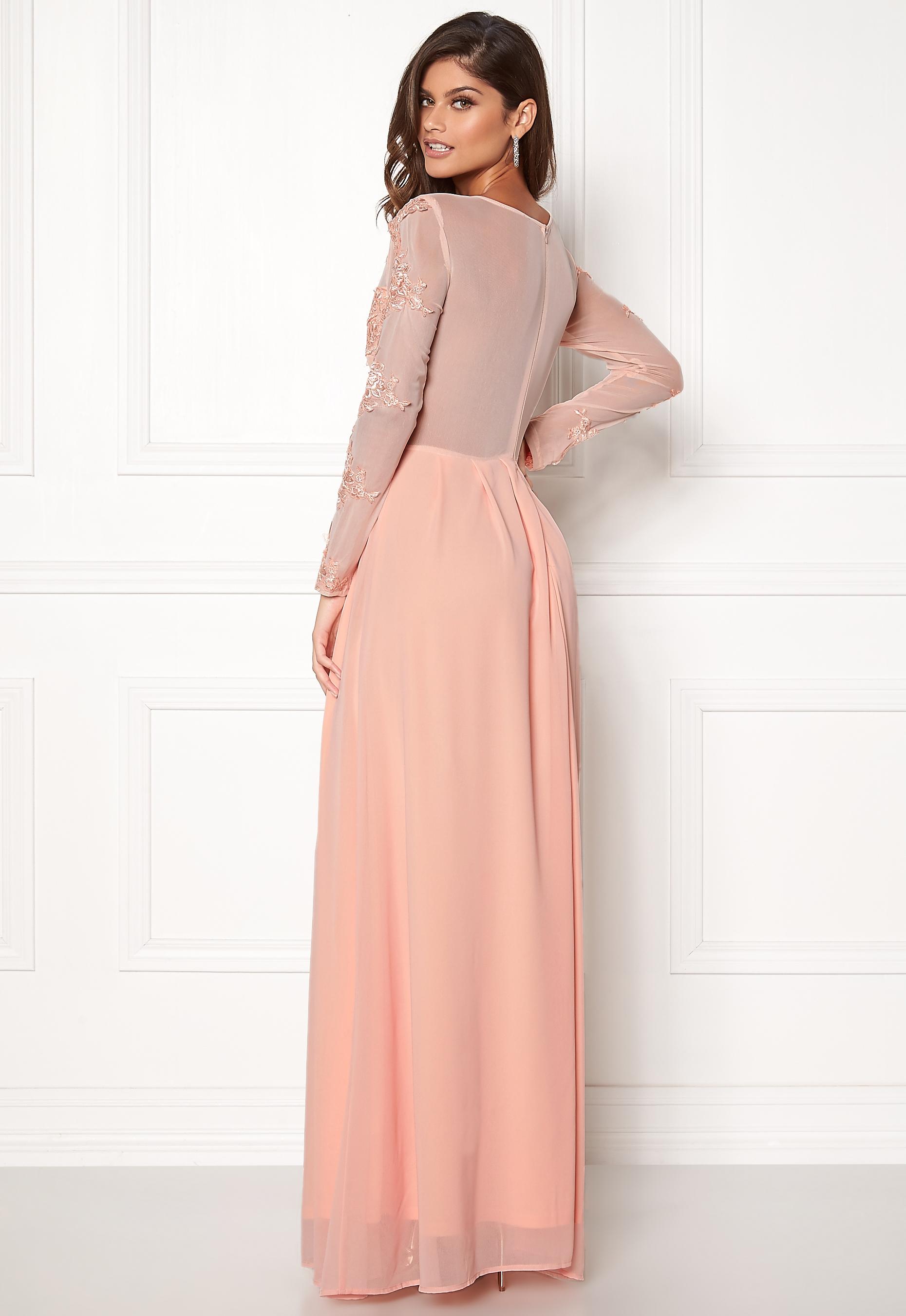 25d84282b AX Paris Long Sleeve Lace Maxi Nude - Bubbleroom