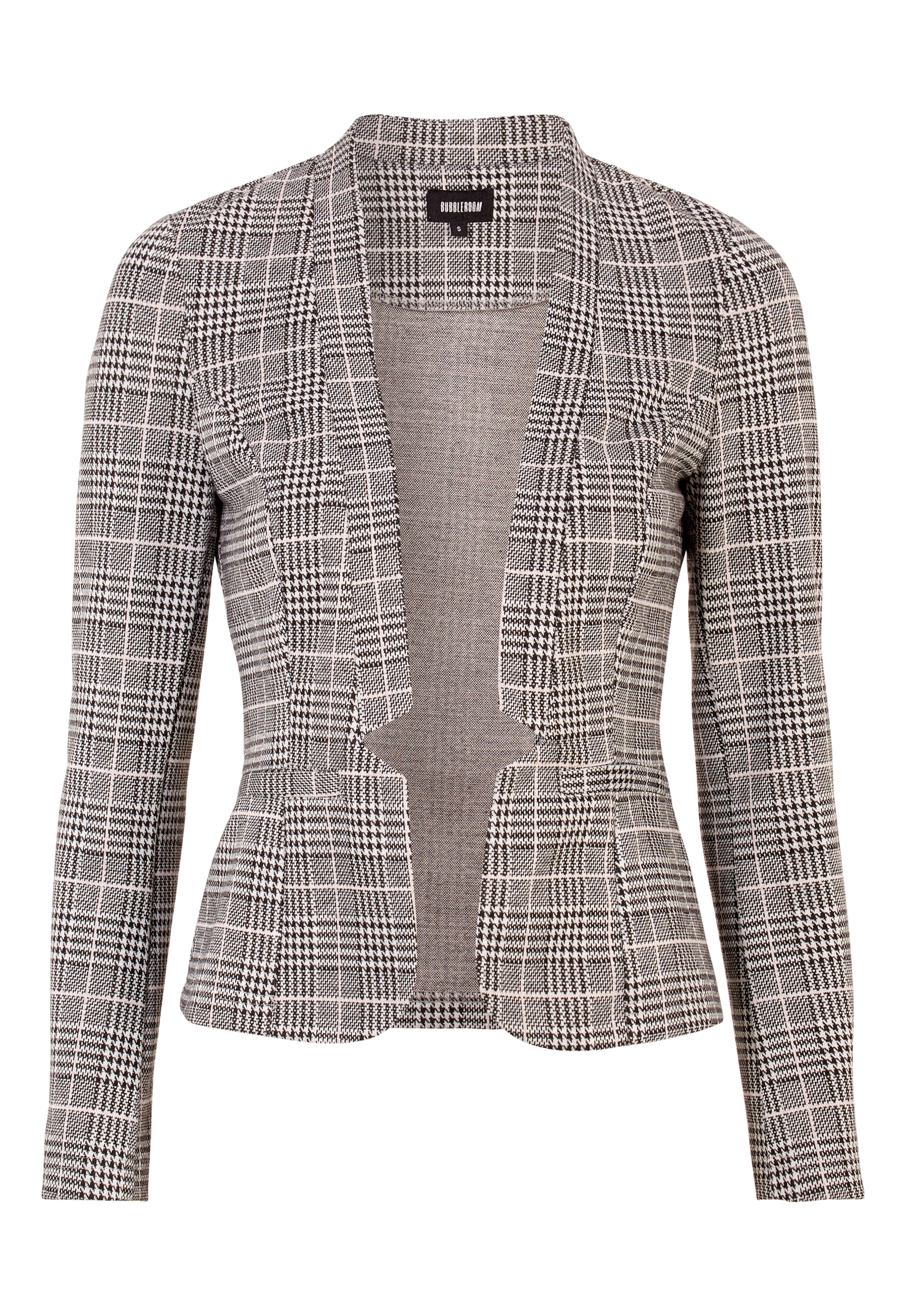 BUBBLEROOM Brienne blazer Grey   Pink   Checked - Bubbleroom 324d4ea884fa3