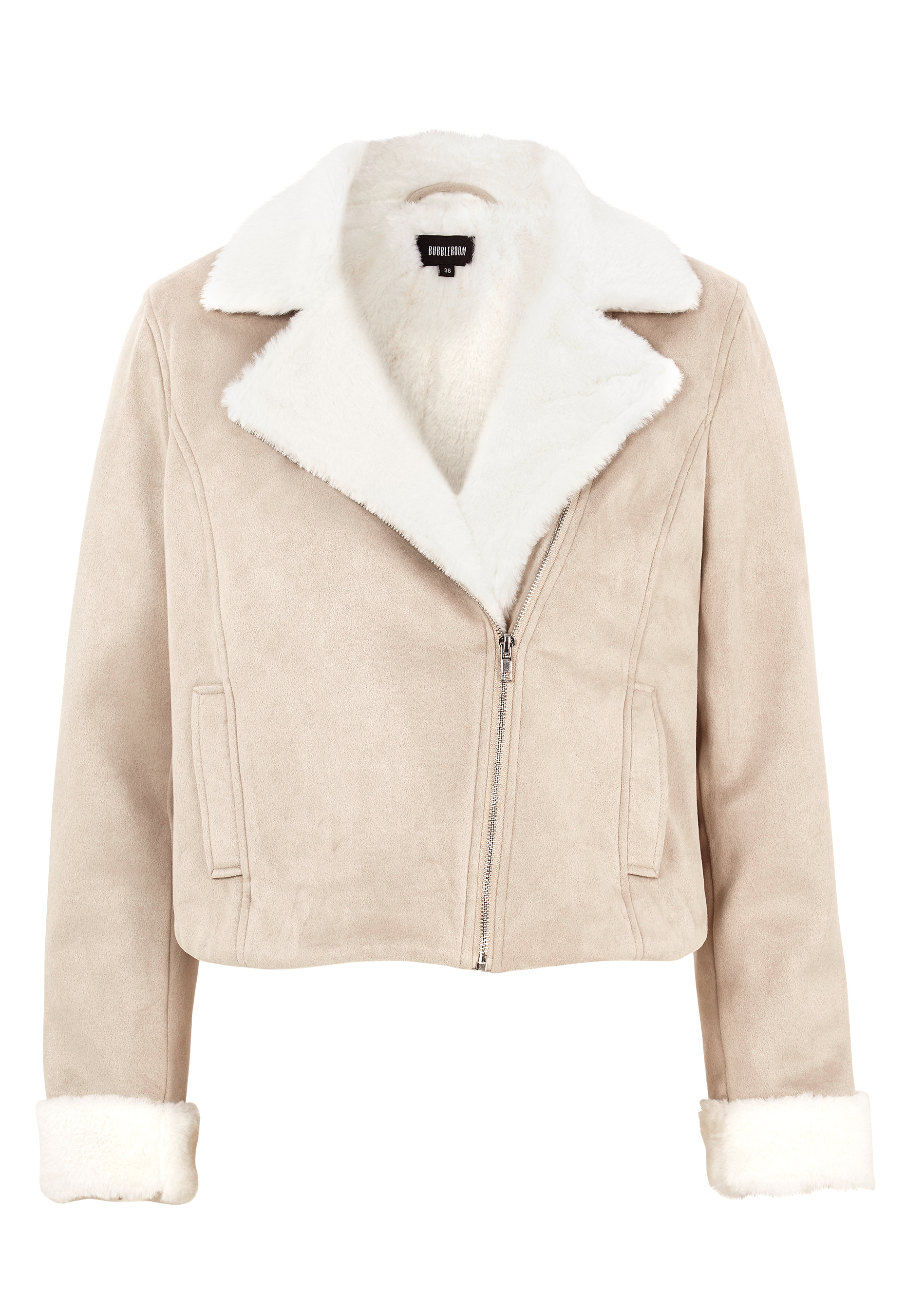 cheap prices excellent quality enjoy best price BUBBLEROOM Julia biker jacket Beige - Bubbleroom