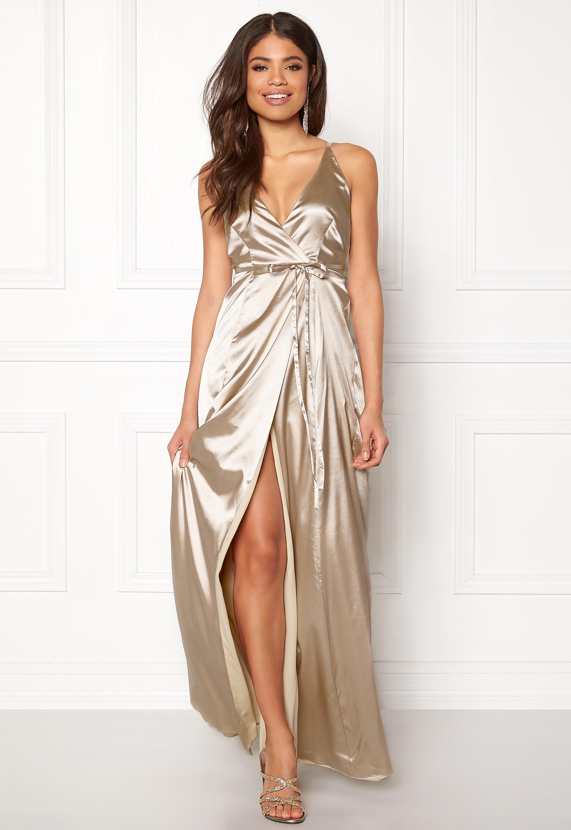 BUBBLEROOM Stella prom dress Champagne - Bubbleroom 4d6d2543e8330