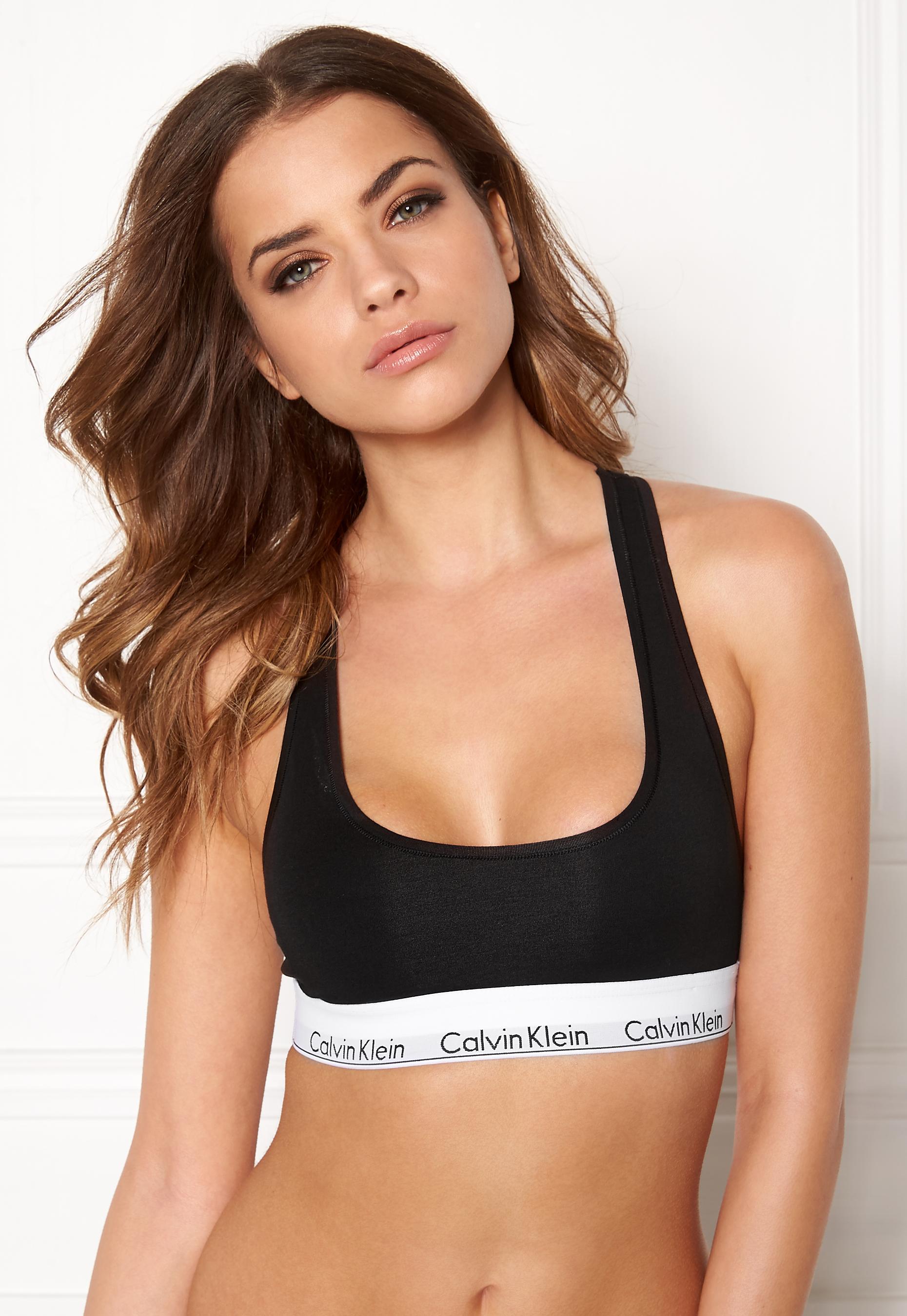 8074164f14 Calvin Klein CK Cotton Bralette 001 Black - Bubbleroom