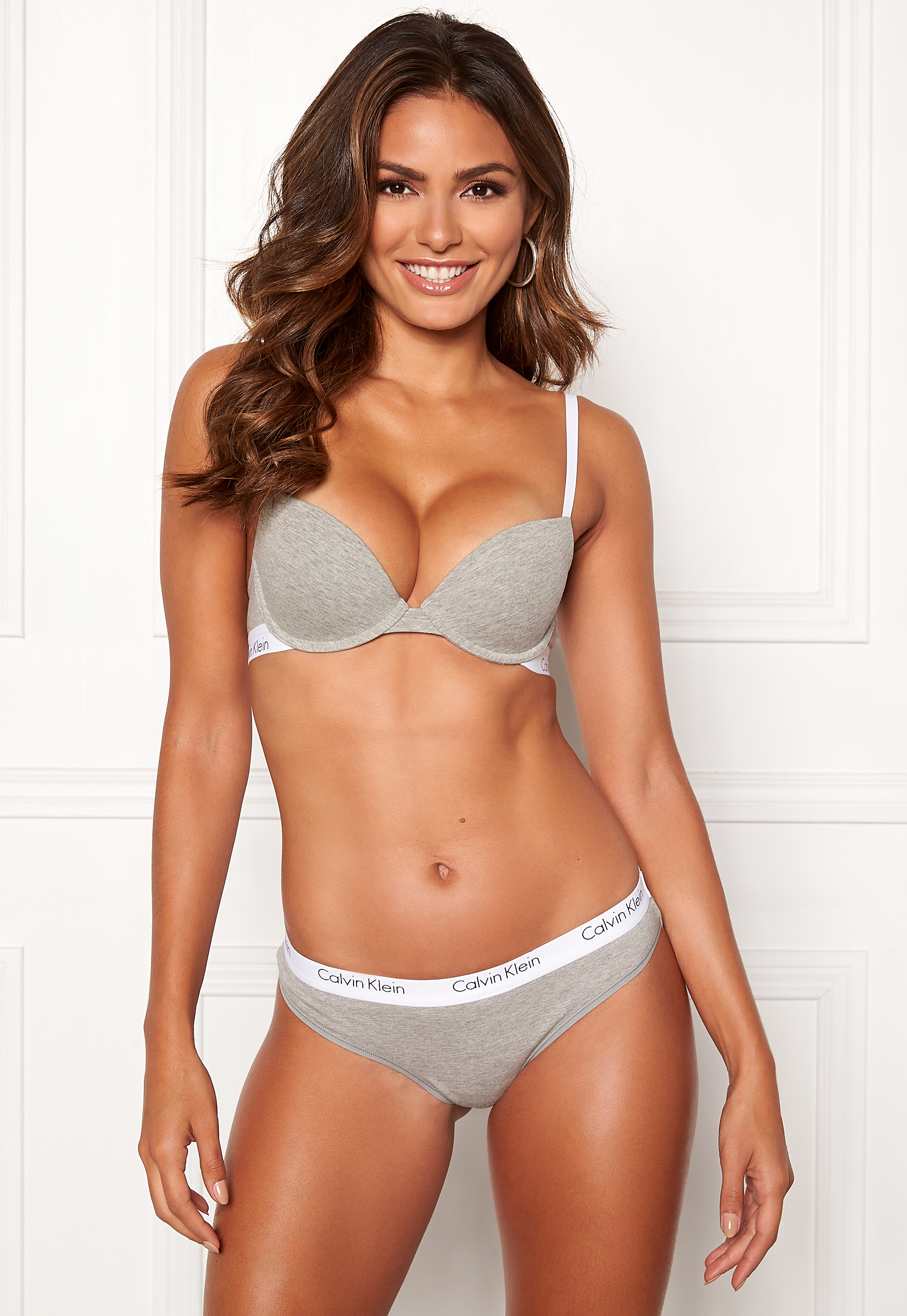 b2483952a0 Calvin Klein CK One Cotton T-shirt Bra Grey Heather - Bubbleroom