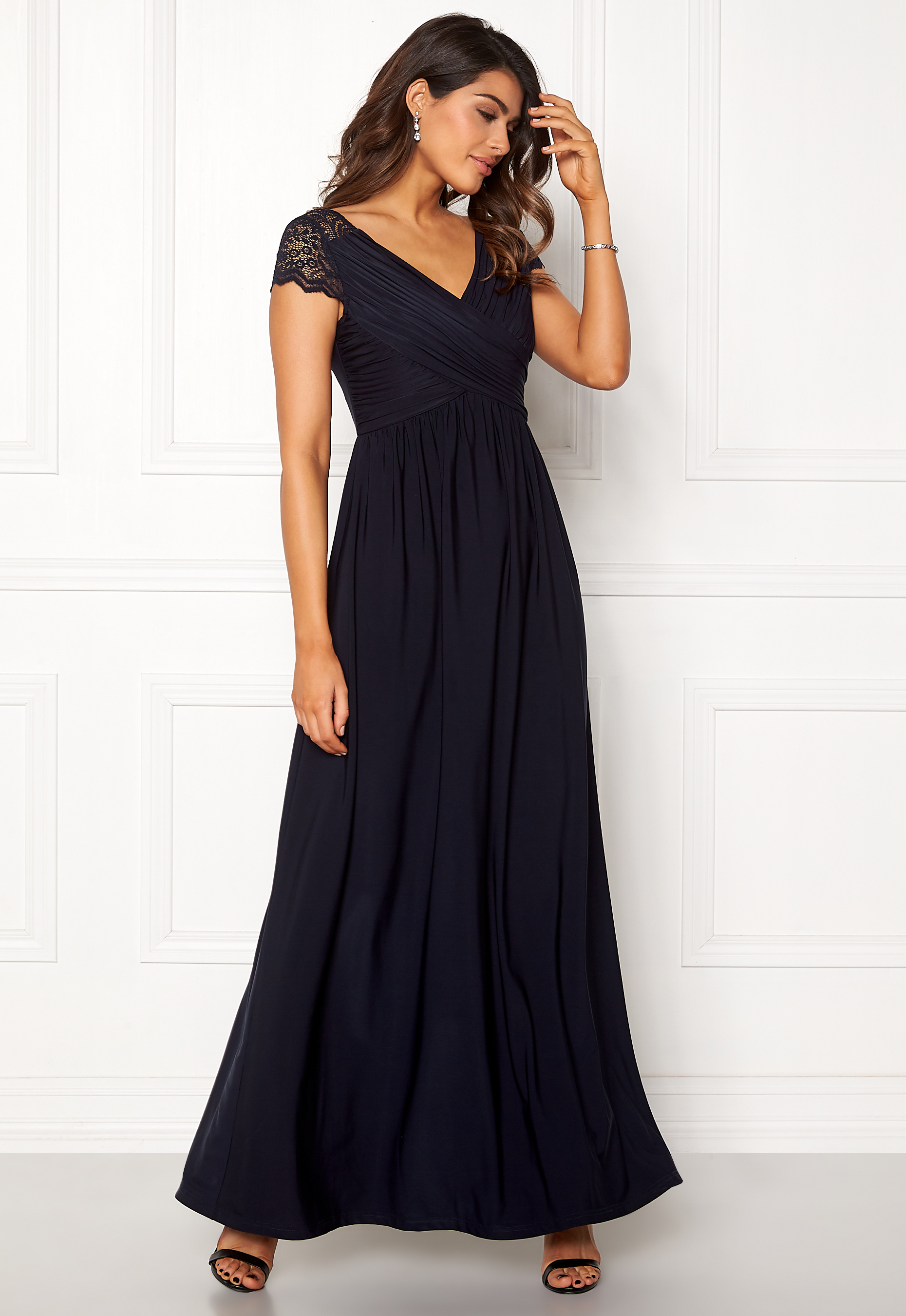 827e5e4e7b39 Chiara Forthi Aurelia dress Dark blue - Bubbleroom