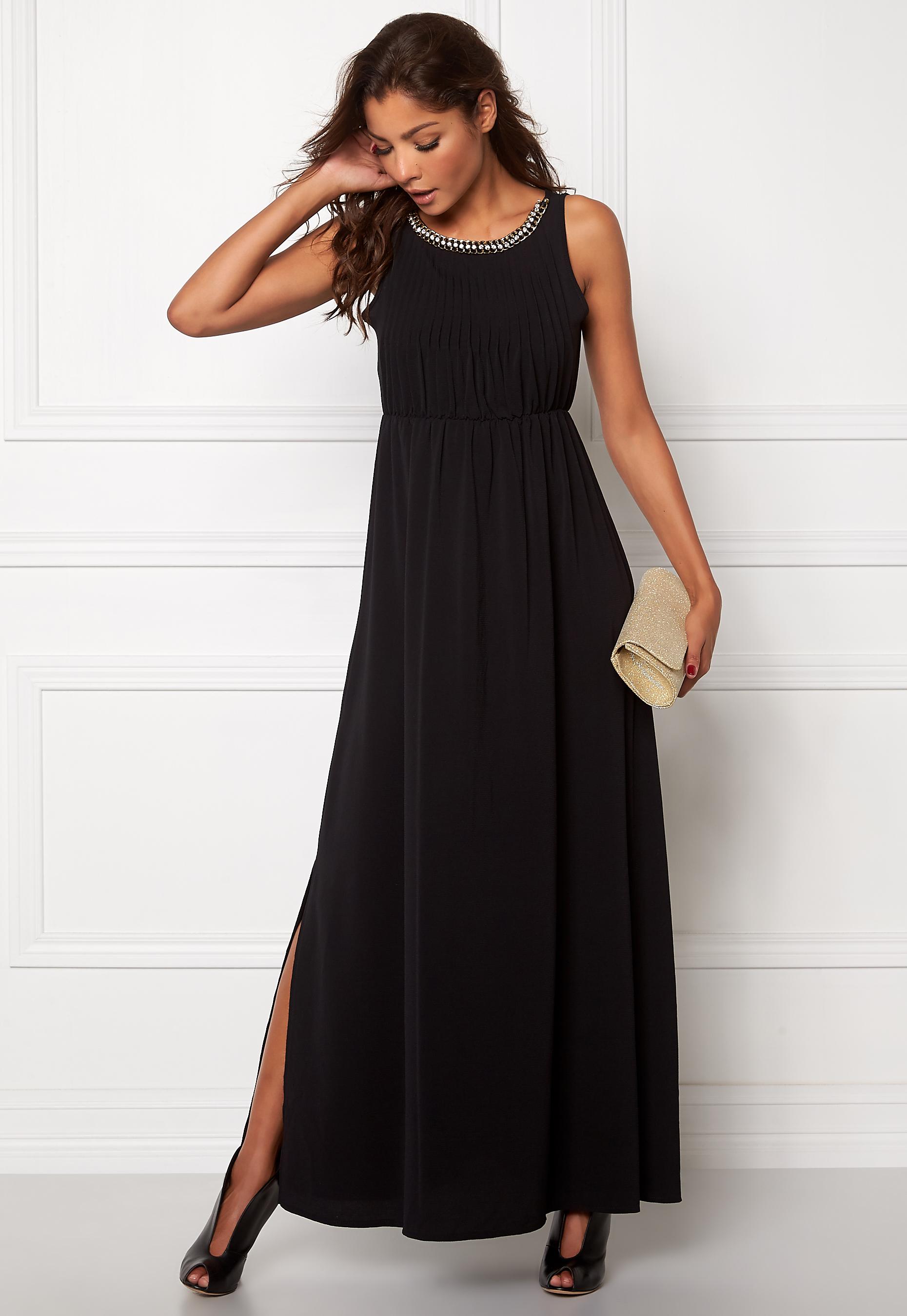 0ed4736b Chiara Forthi Aurely Evening Gown Black / Gold - Bubbleroom