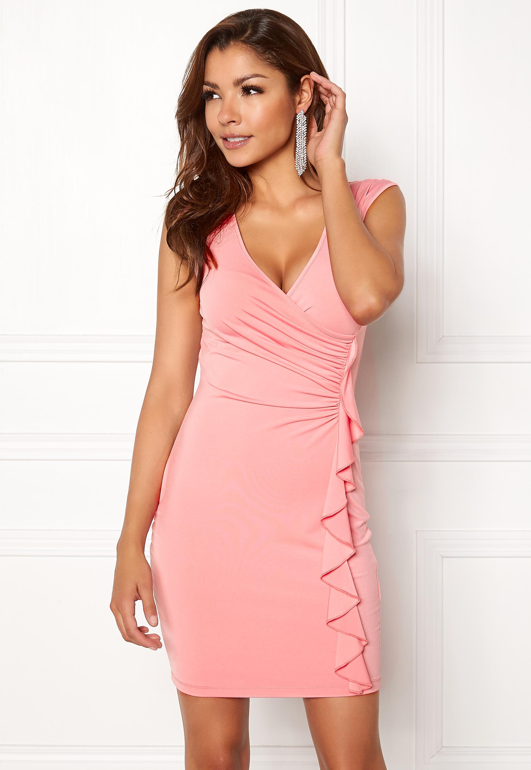 e6162186 Chiara Forthi Celina ruffle dress Pink - Bubbleroom