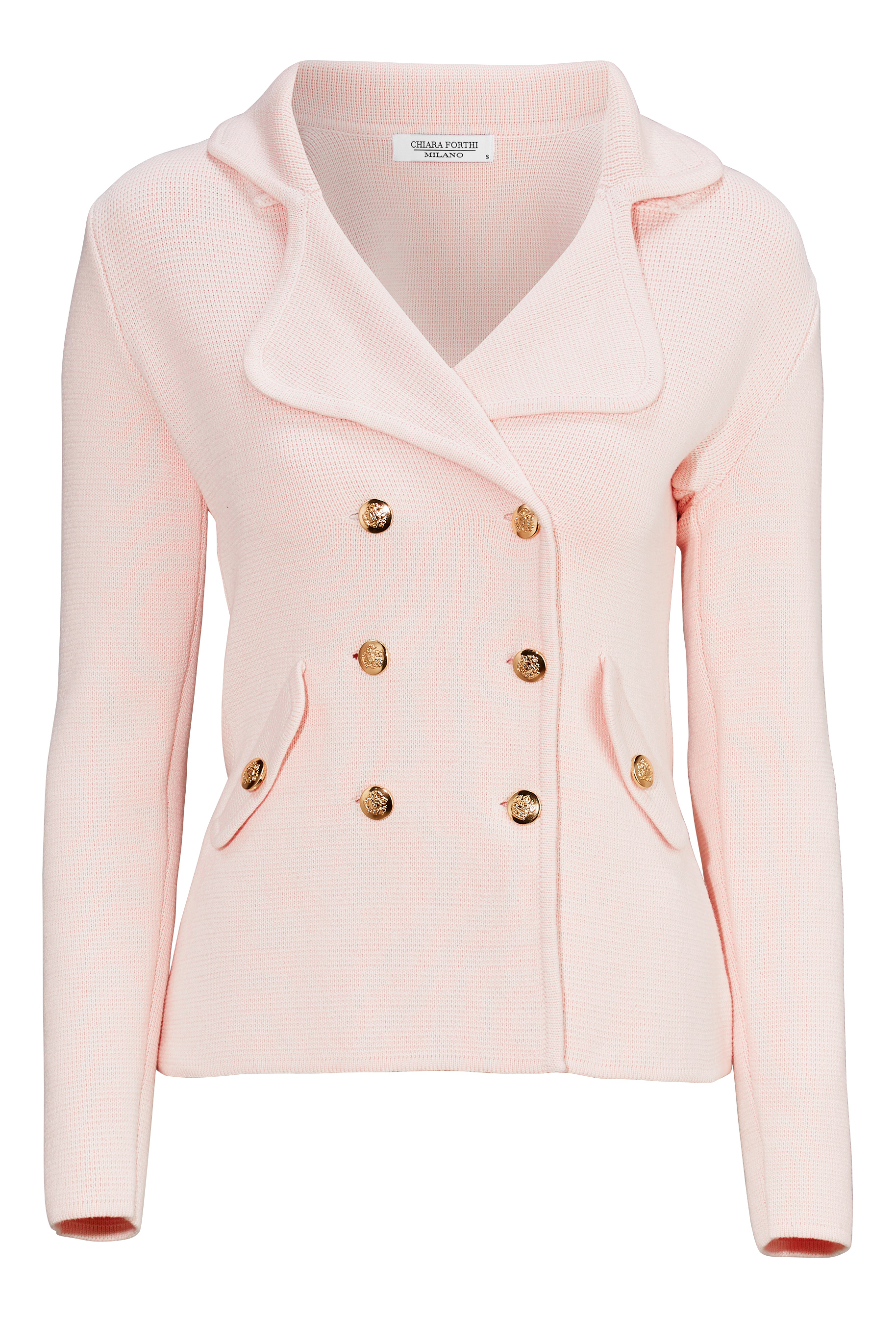 aefdcee2 Chiara Forthi Chiara Heavy Knit Blazer Light pink - Bubbleroom