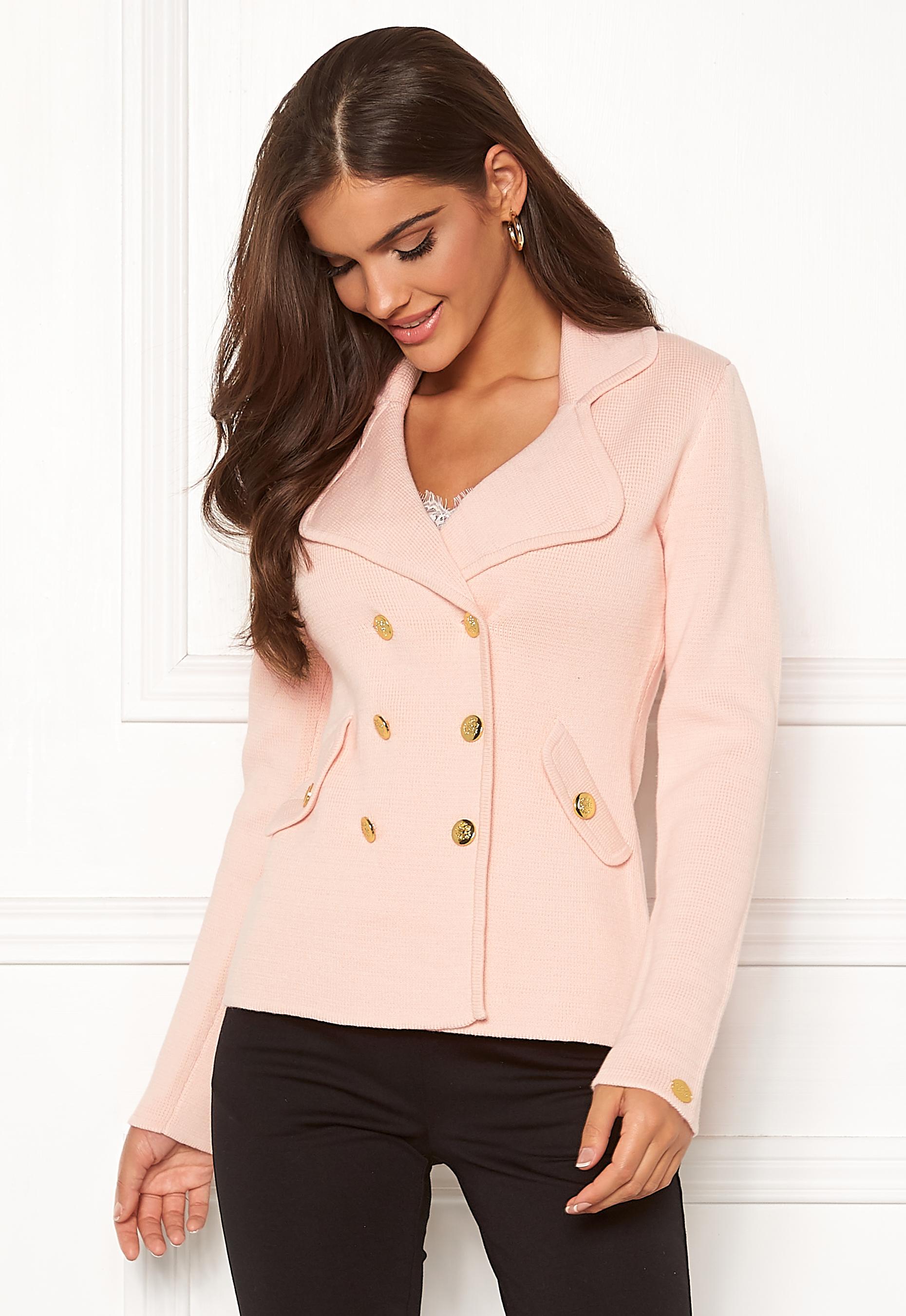 908b6b7a97a Chiara Forthi Chiara Heavy Knit Blazer Light pink - Bubbleroom