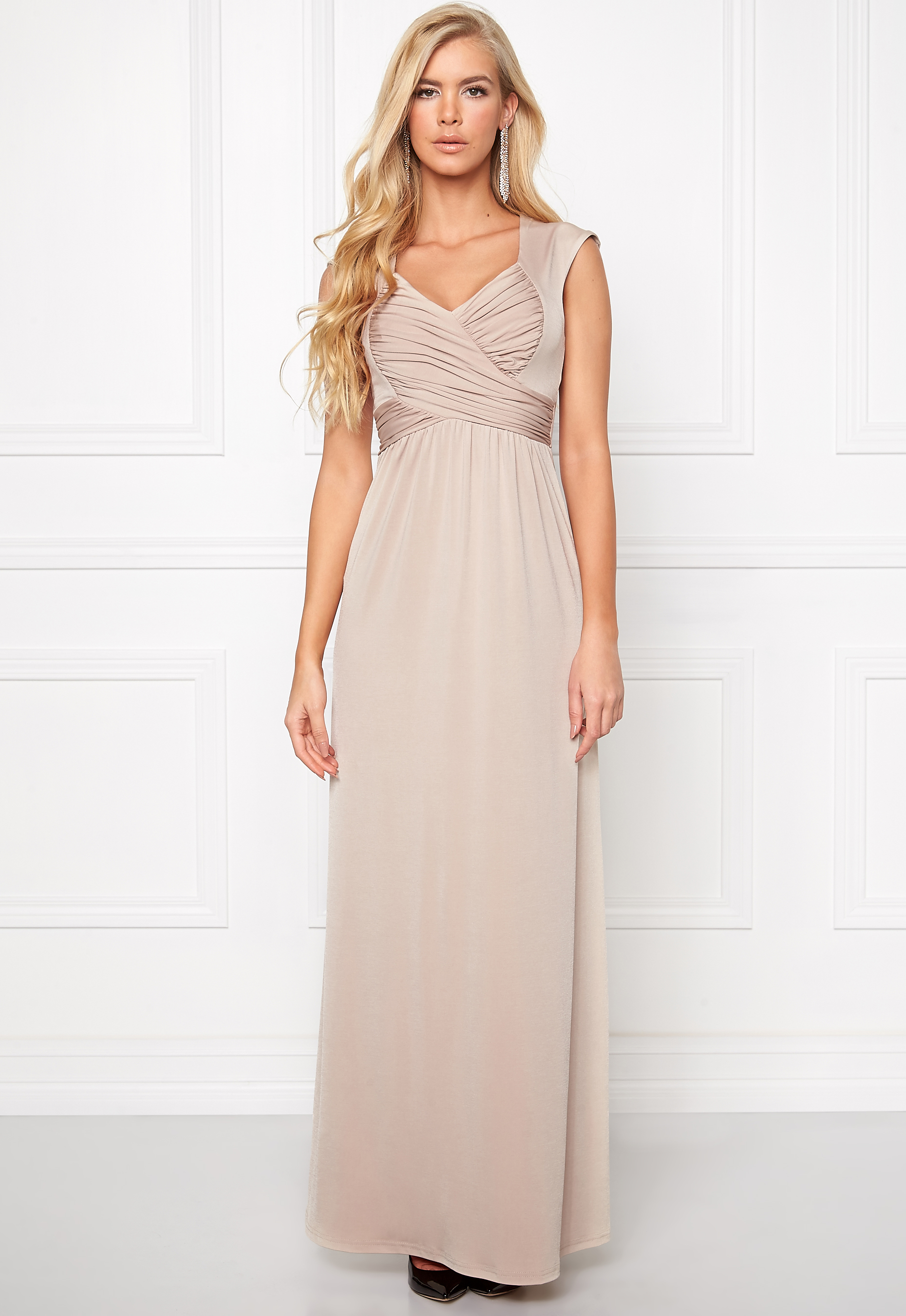 Chiara Forthi Francine Dress Beige Bubbleroom