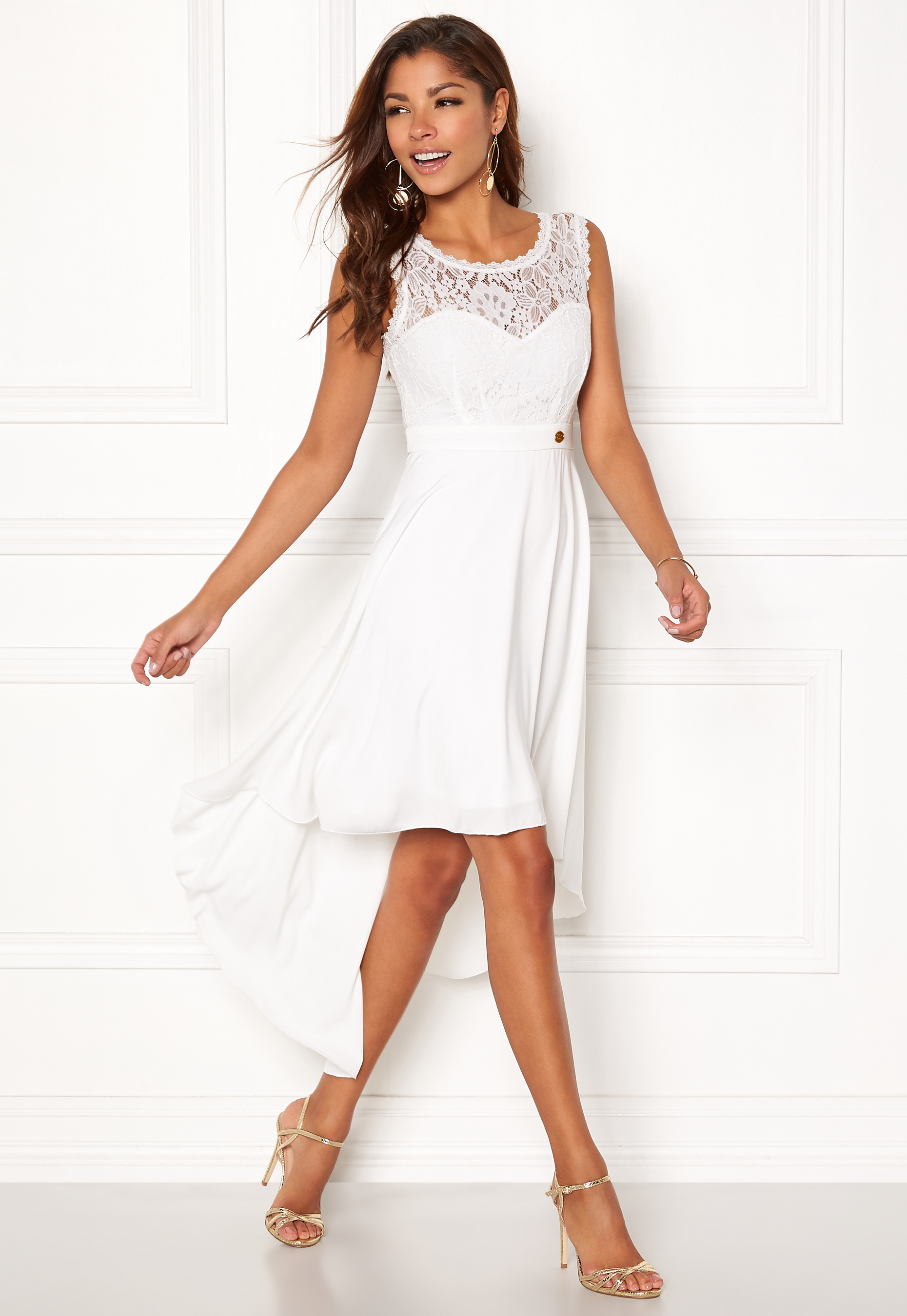 Chiara Forthi Kimberly Highlow Dress Antique White Bubbleroom