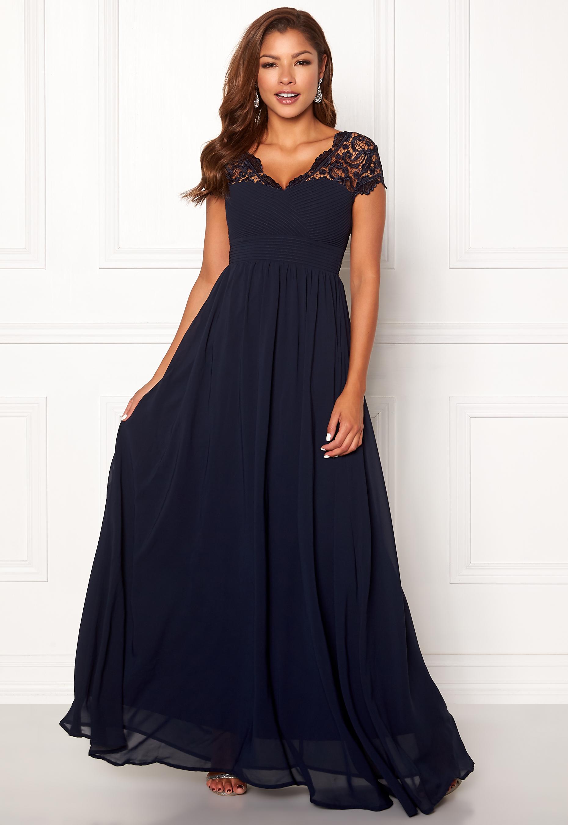 0131db5b Chiara Forthi Leighann Gown Dark blue - Bubbleroom