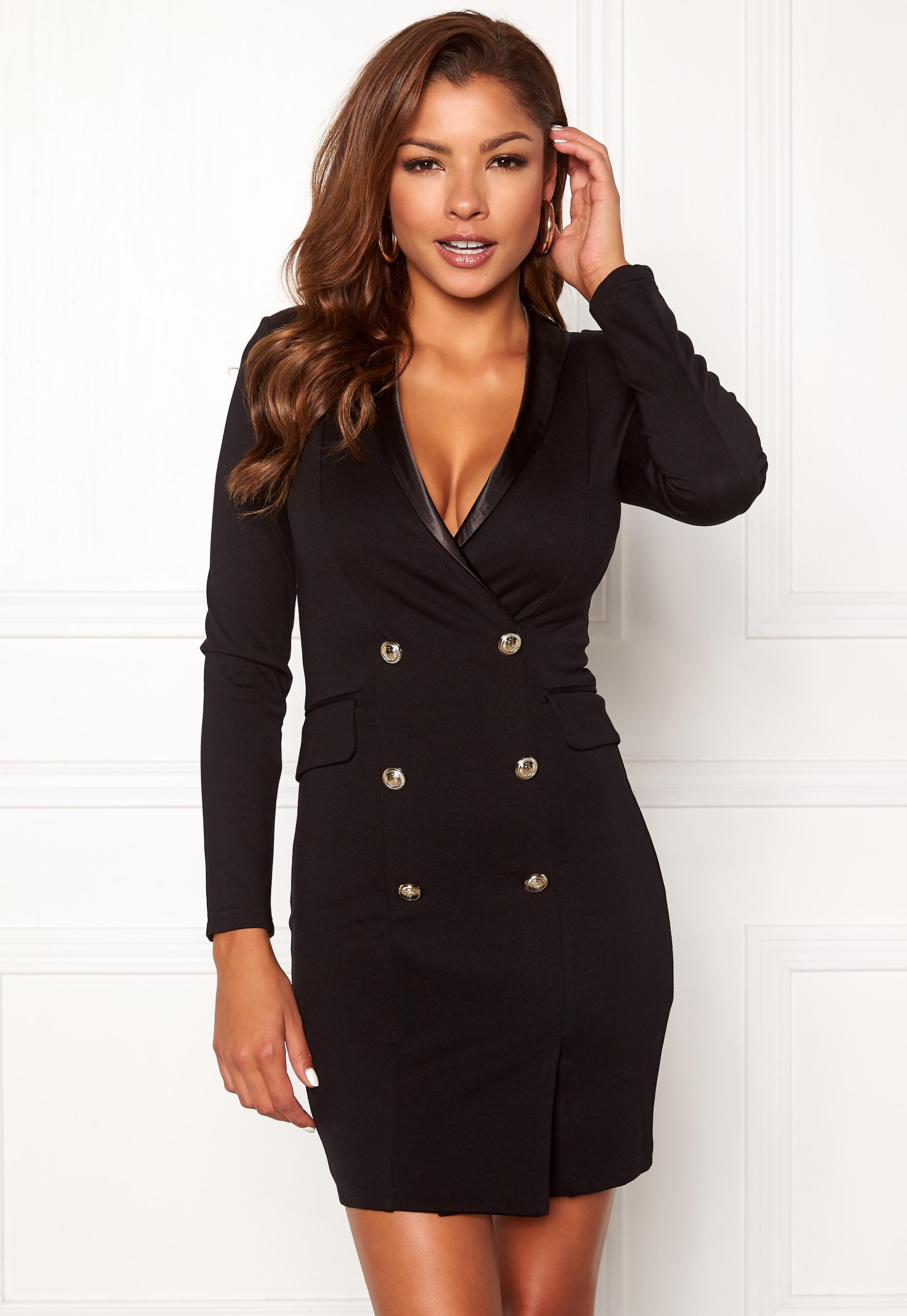 5c0a00c472db Chiara Forthi Lucca blazer dress Black - Bubbleroom