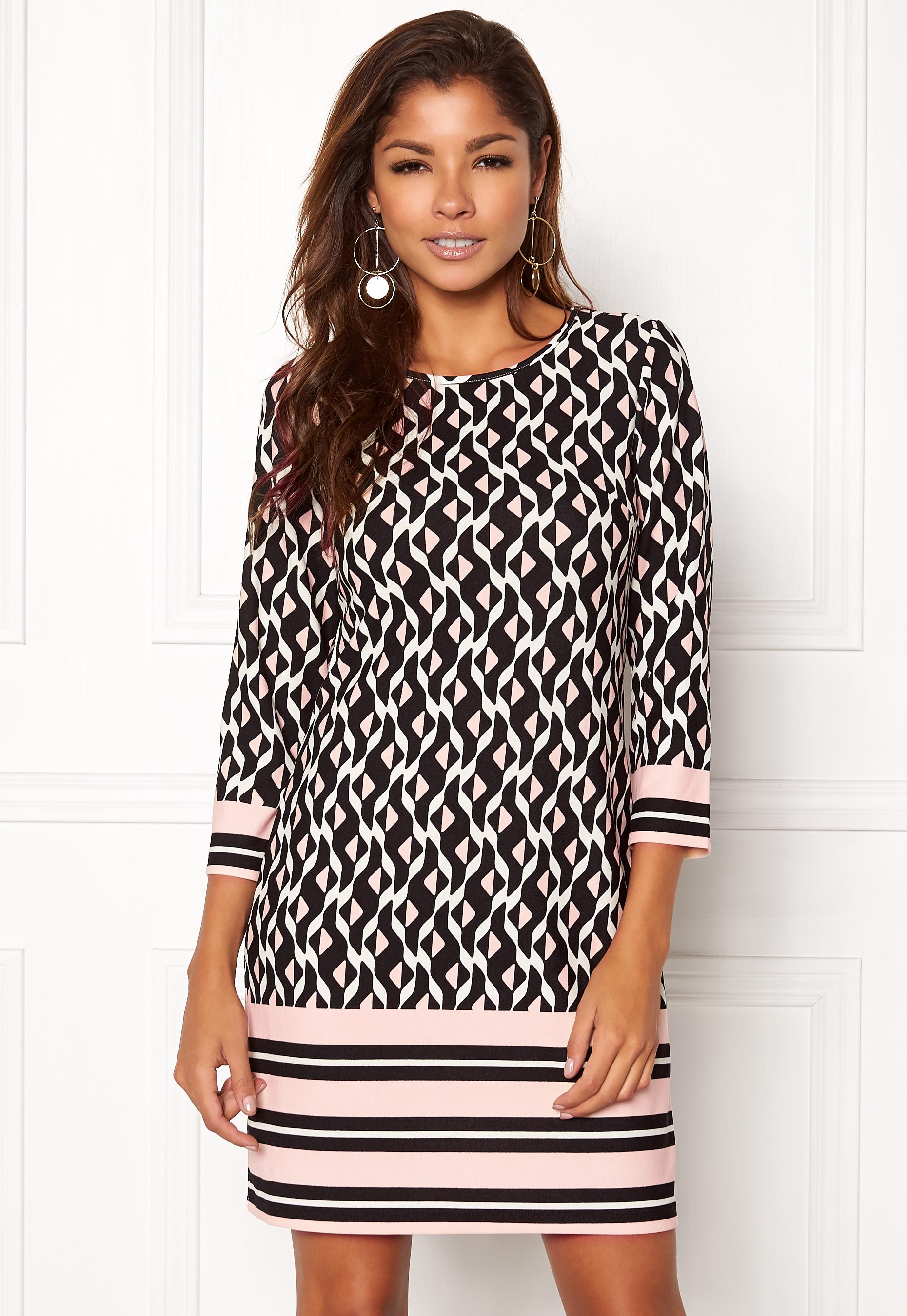 825549c2 Chiara Forthi Maura Dress Black / White / Pink - Bubbleroom