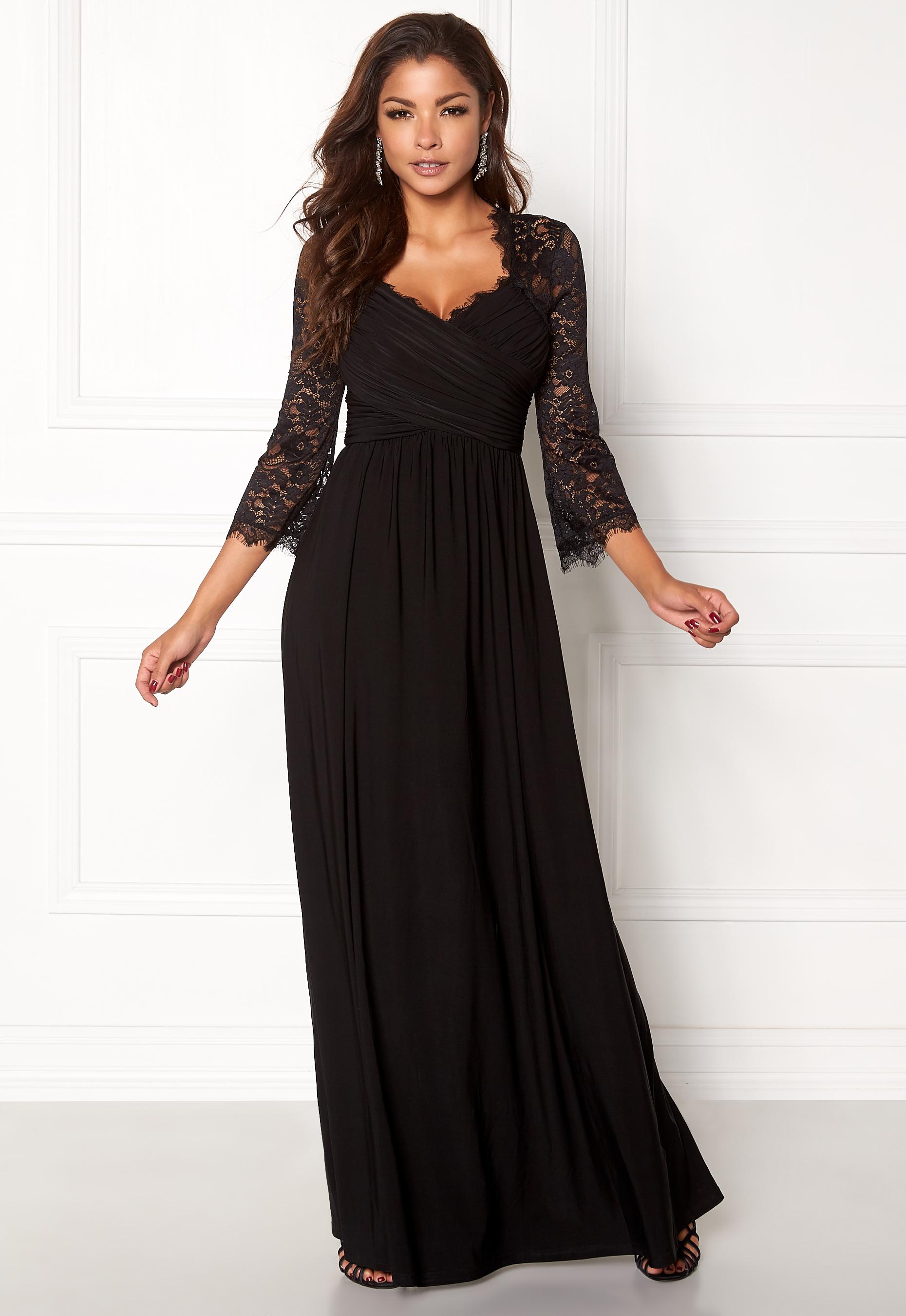 0ee15ad08ce2 Chiara Forthi Nathalia Maxi Dress Black - Bubbleroom