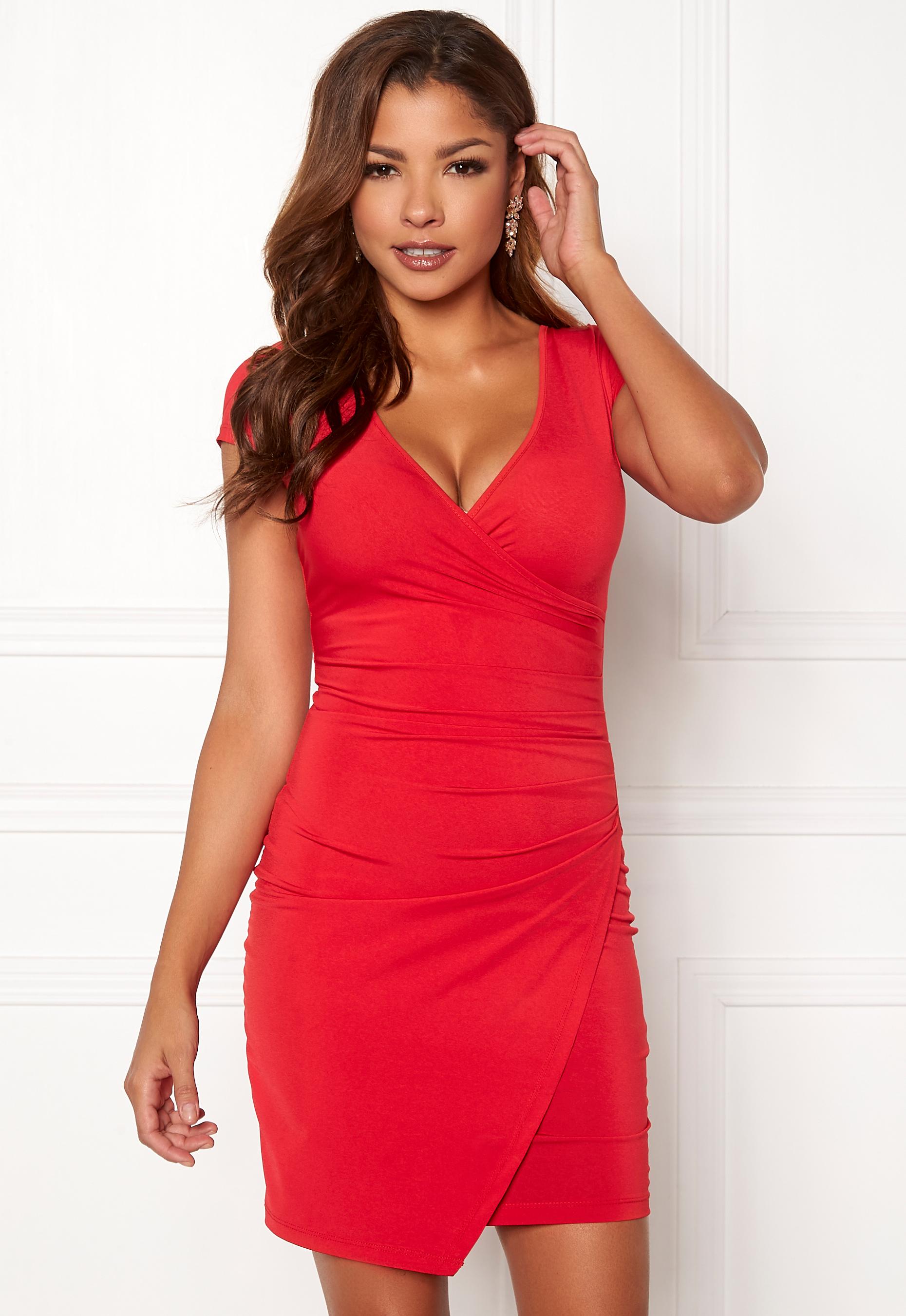 92f64844 Chiara Forthi Soprano Wrap Dress Red - Bubbleroom