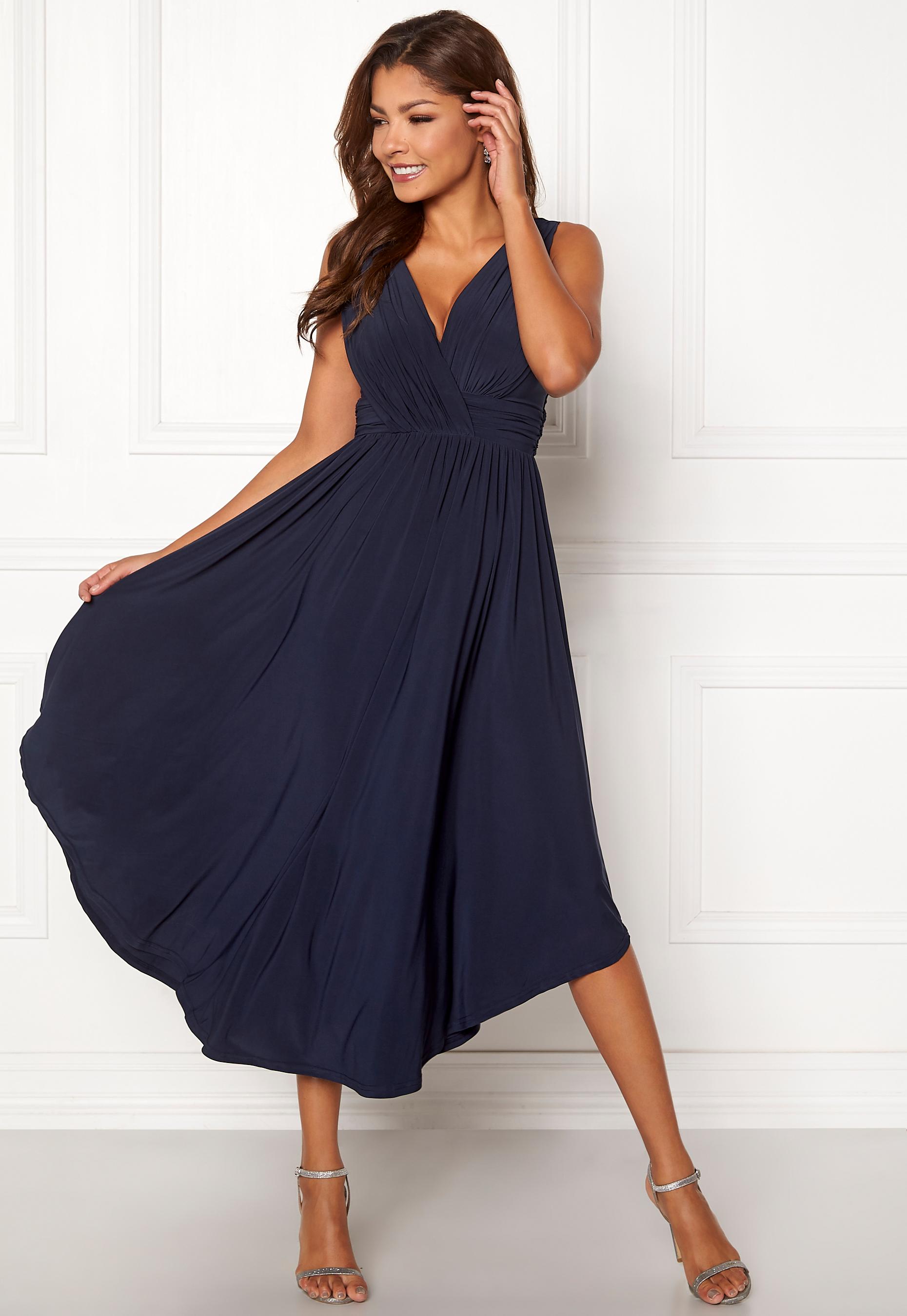 8358670e229 Chiara Forthi Valeria Dress Dark blue - Bubbleroom