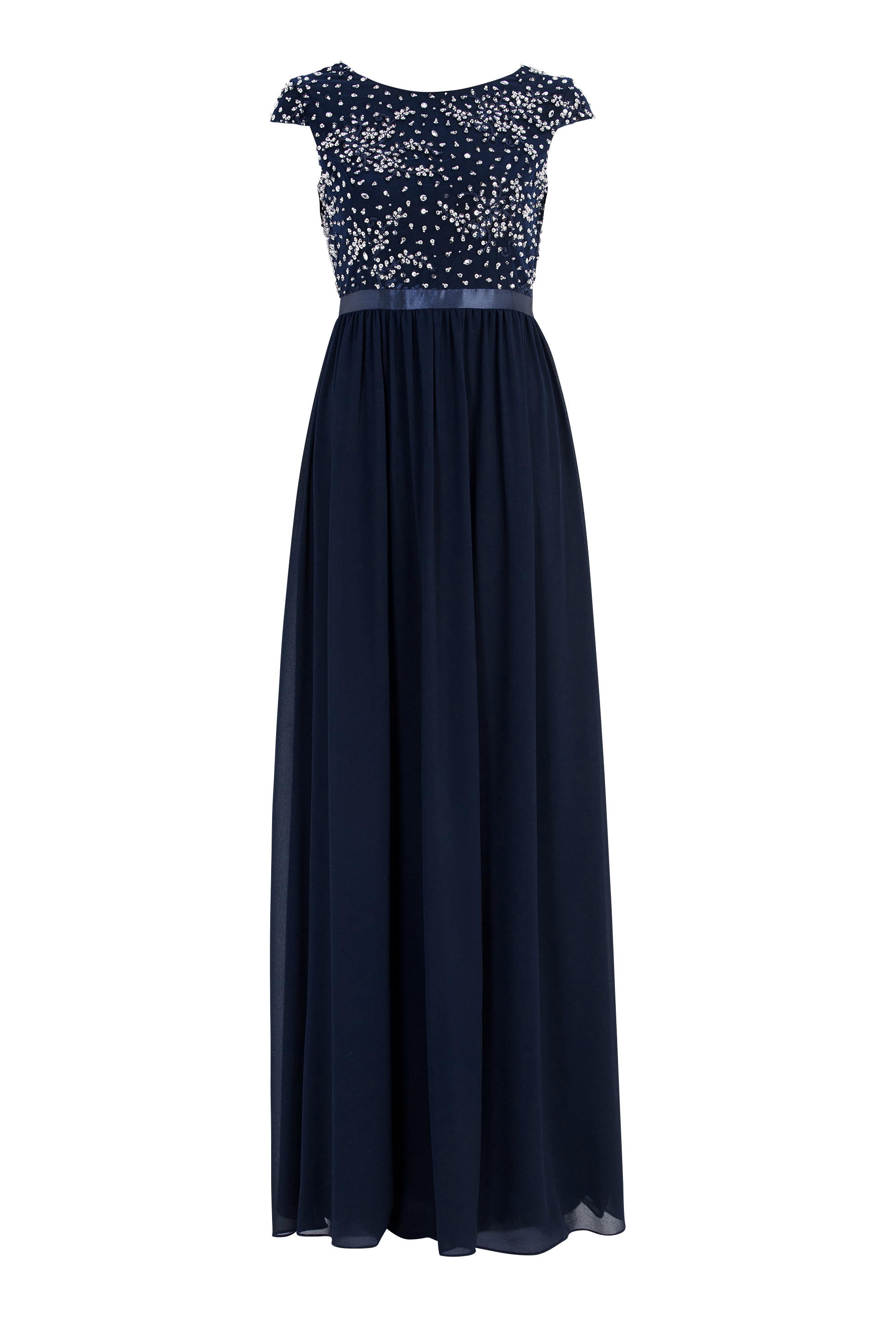 25cb1d0d Chiara Forthi Viviere Sparkling Gown Midnight blue - Bubbleroom