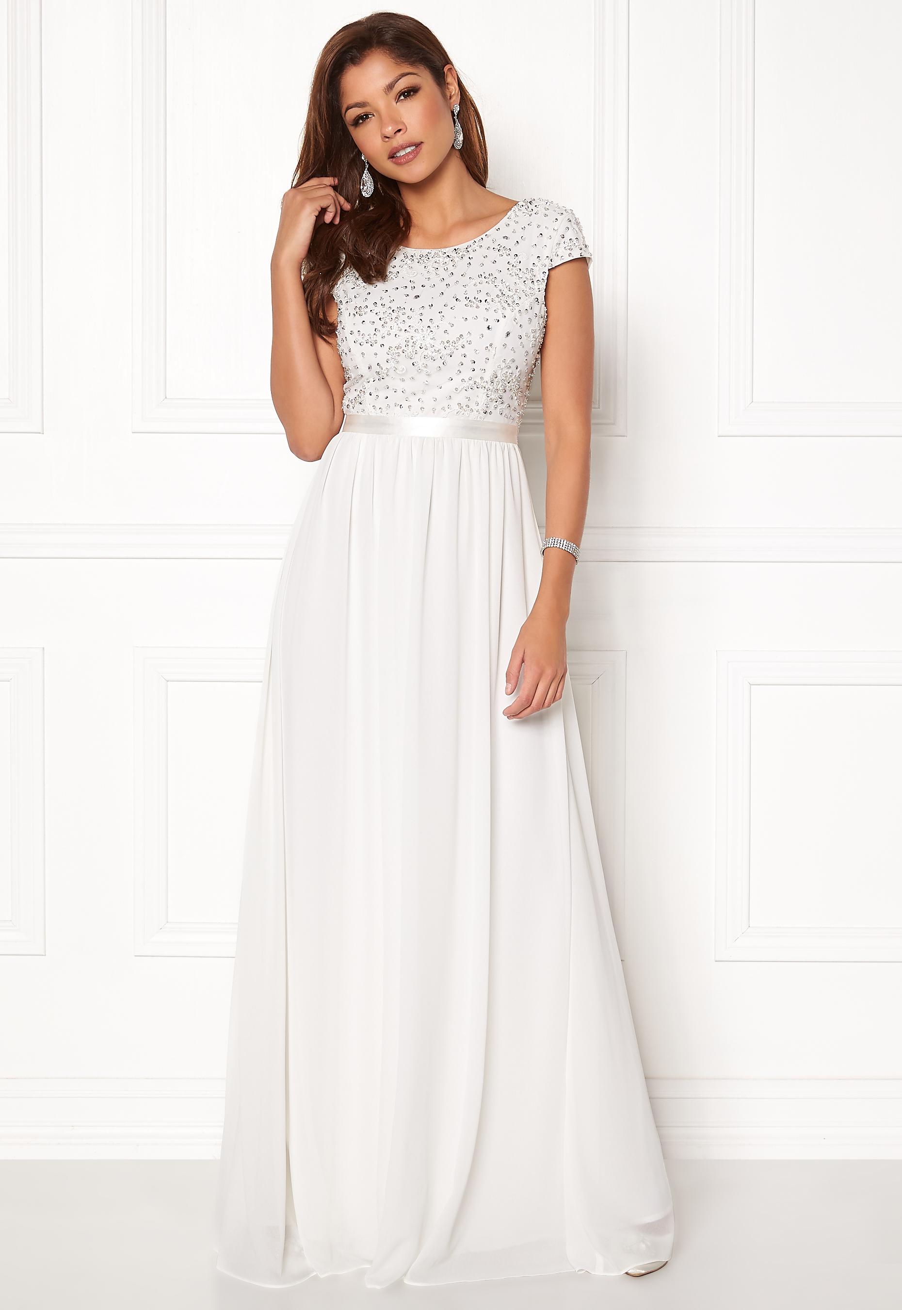 a0c319e87d7d Chiara Forthi Viviere Sparkling Gown Offwhite - Bubbleroom
