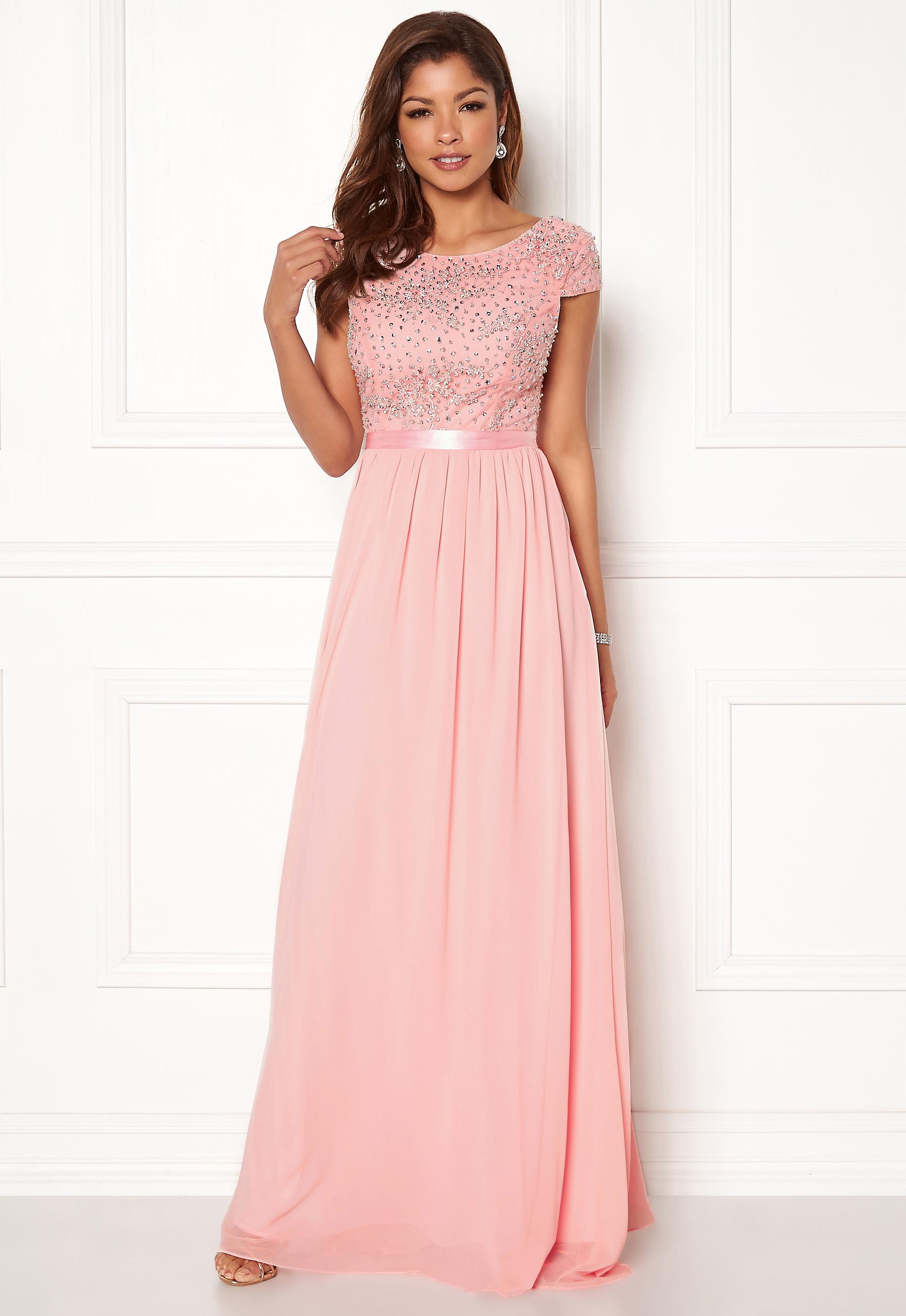 d2a097e98ba9 Chiara Forthi Viviere Sparkling Gown Pink - Bubbleroom