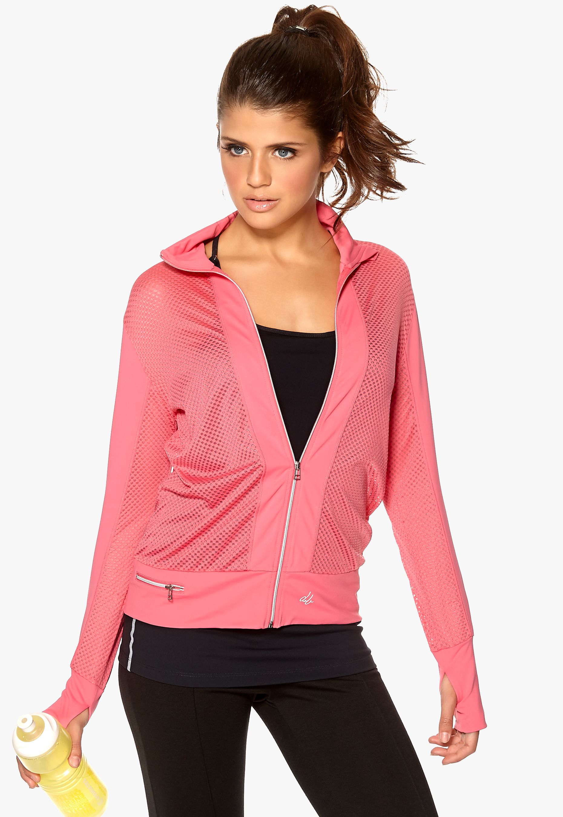 041ea9964e5 D.Brand Ladies Mesh Track Top Pink - Bubbleroom