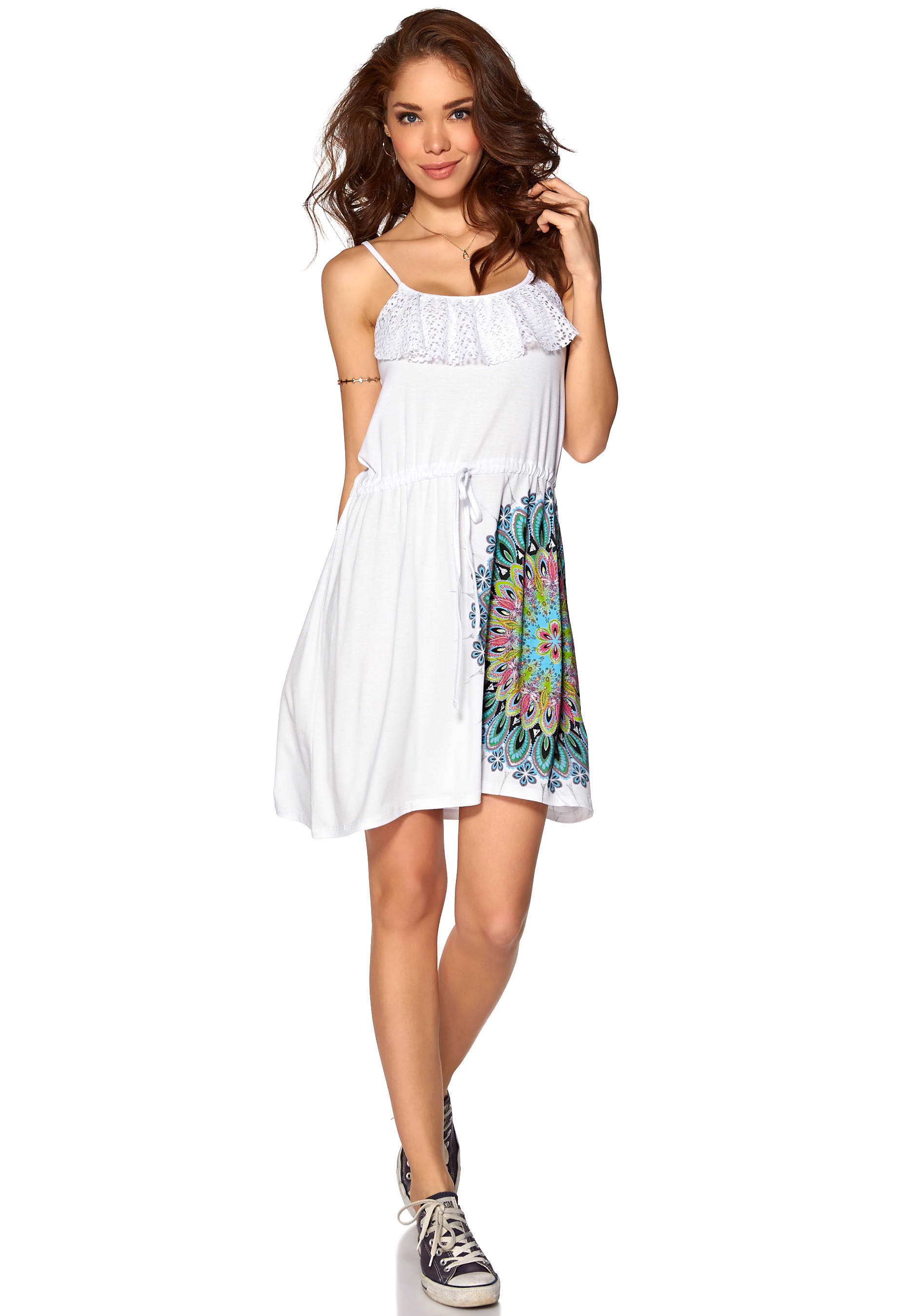42eb480eff532 Desigual Olga Dress Blanco - Bubbleroom