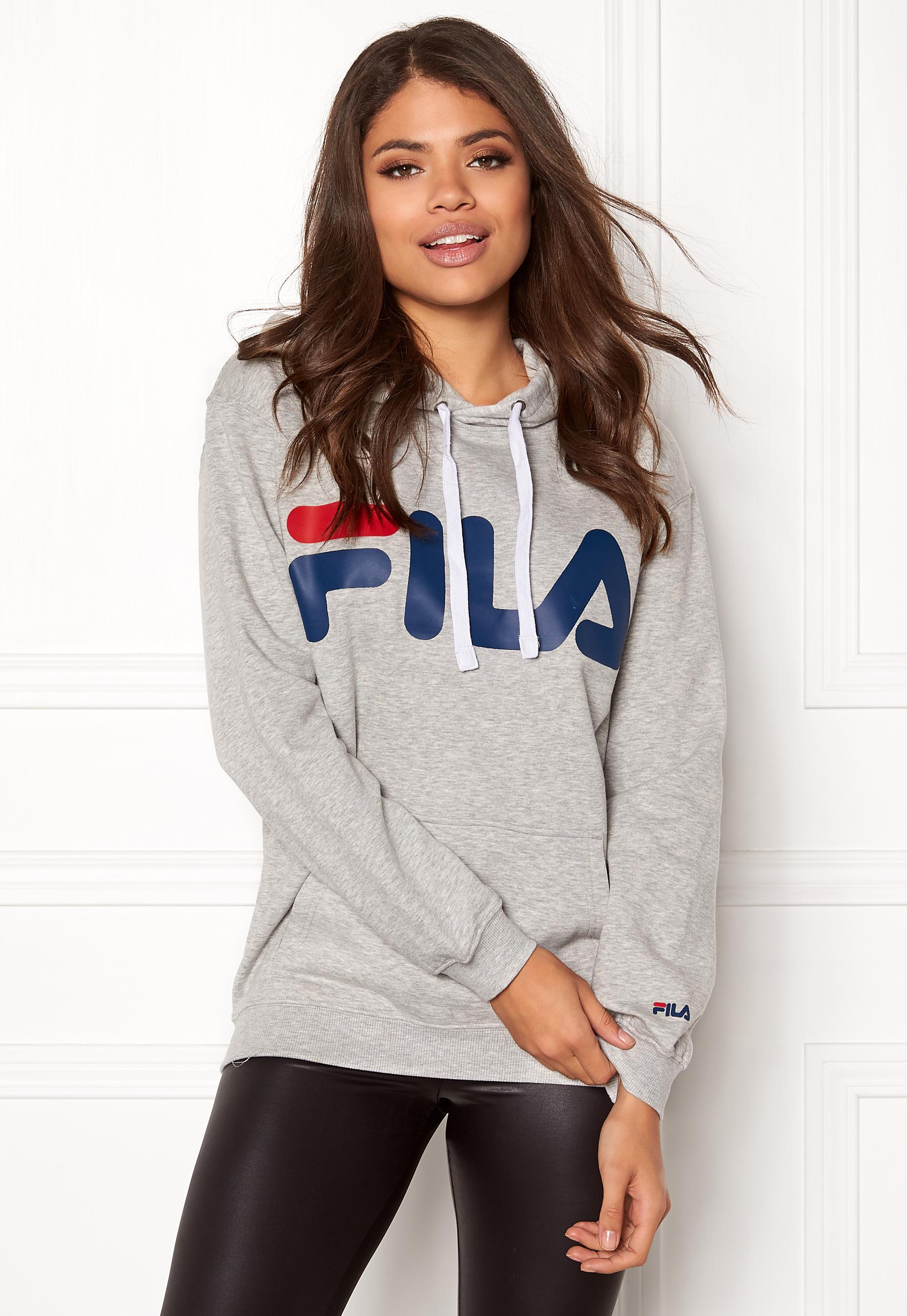 2678f11b86a9 FILA Classic Logo Hood Kangaro Light Grey Melange - Bubbleroom
