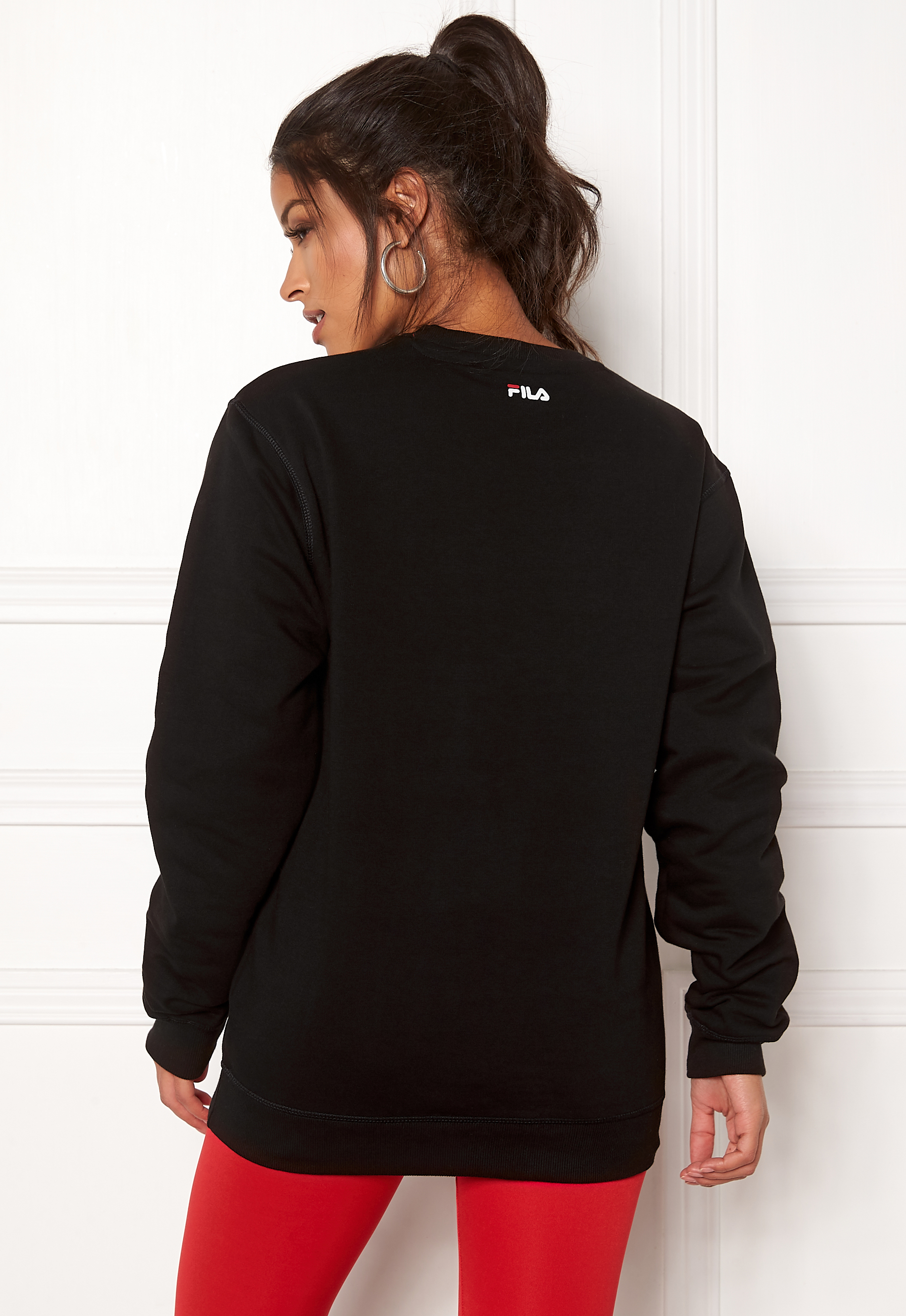 FILA Classic Logo Sweat Black Bubbleroom