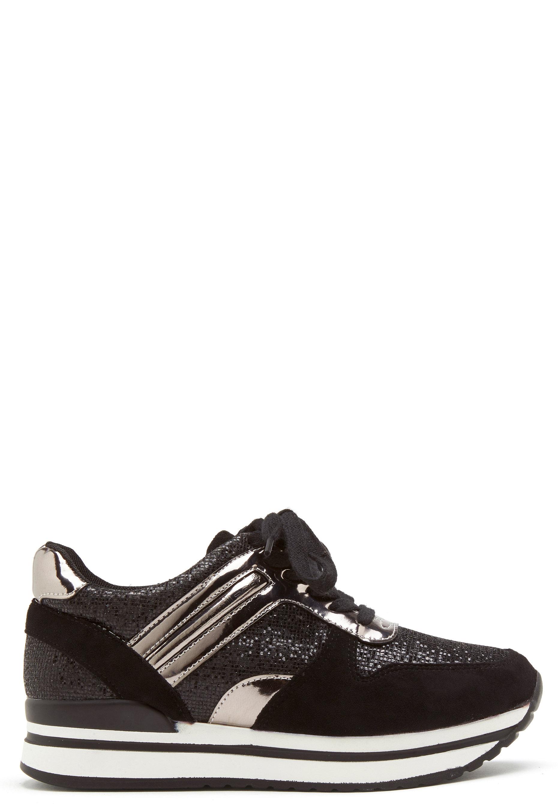 Suavemente sociedad crema  Francesco Milano Glitter Detail Sneakers Nero - Bubbleroom