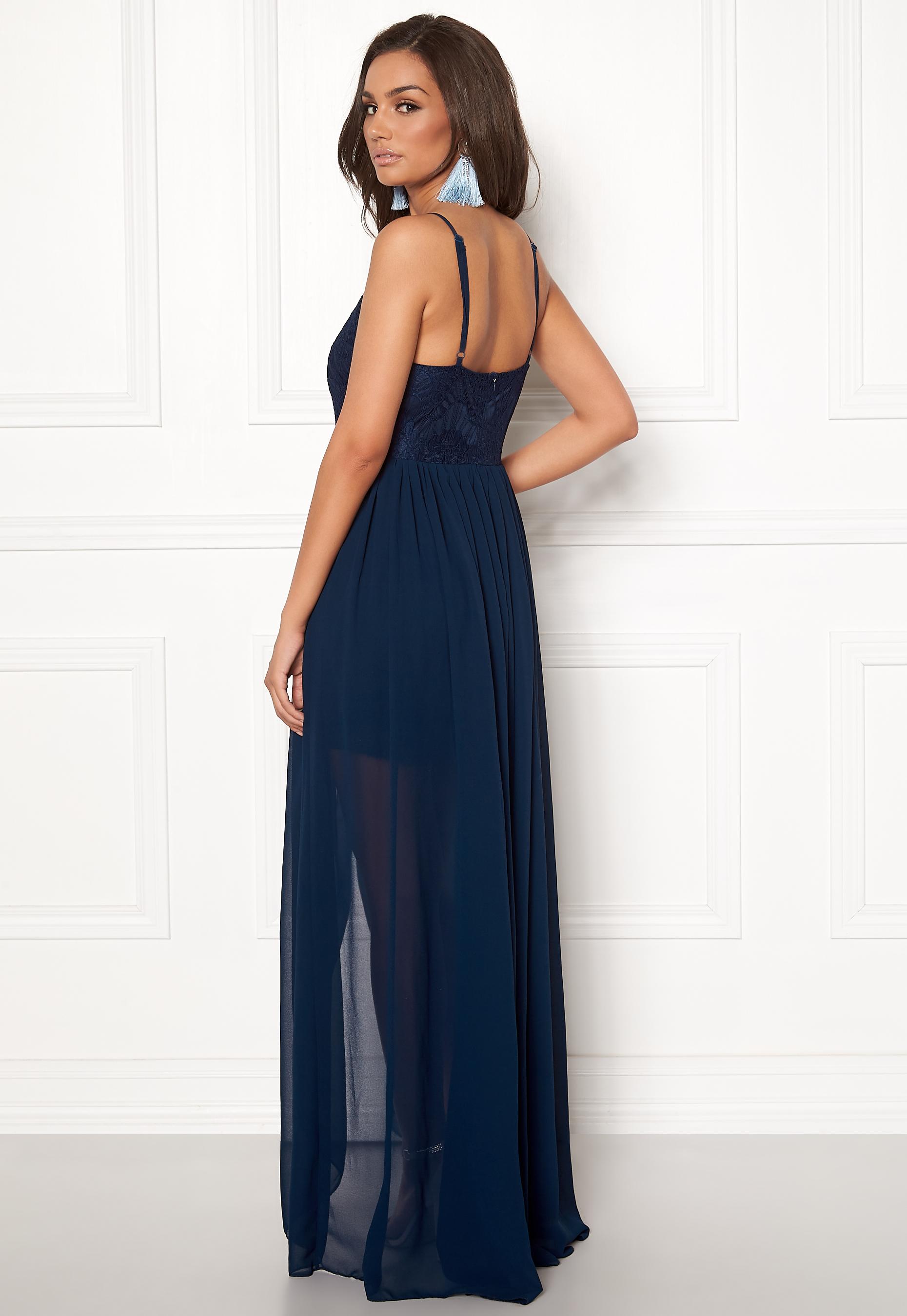 de70ee7de7b7 Girl In Mind Maddie Lace Maxi Dress Navy - Bubbleroom