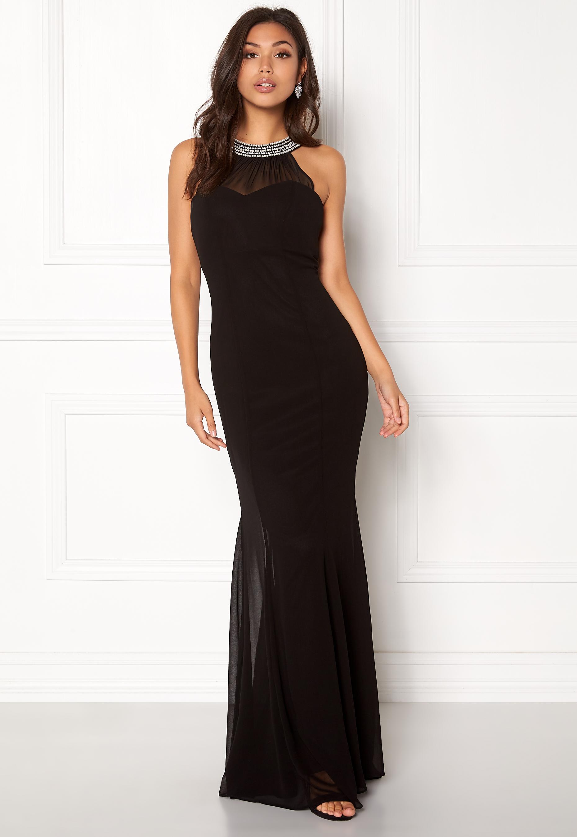 f84d6cfde11 Goddiva Chiffon Maxi Dress Black - Bubbleroom
