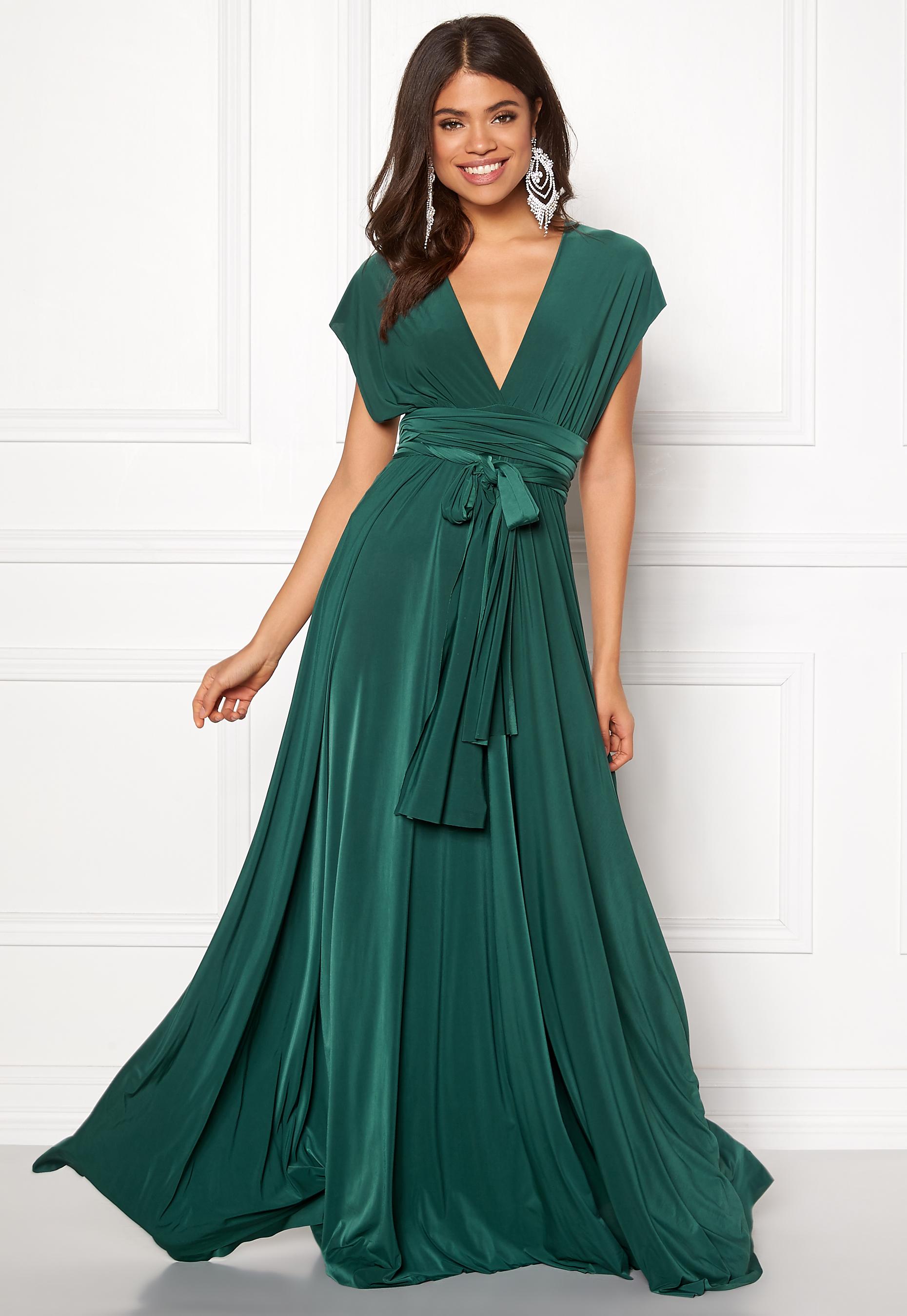 dcfcc277 Goddiva Multi Tie Maxi Dress Green - Bubbleroom