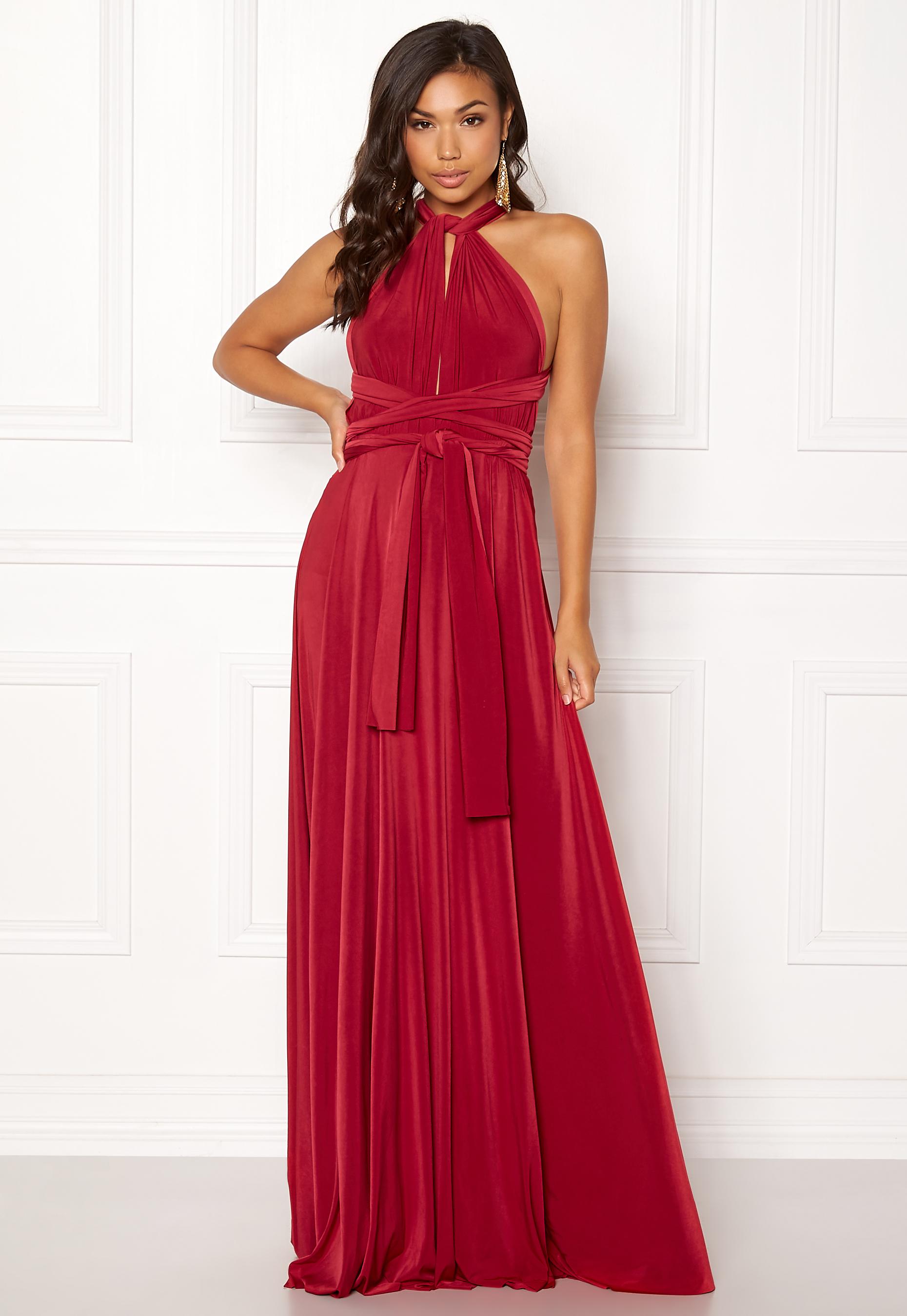 9f09e26b Goddiva Multi Tie Maxi Dress Red - Bubbleroom
