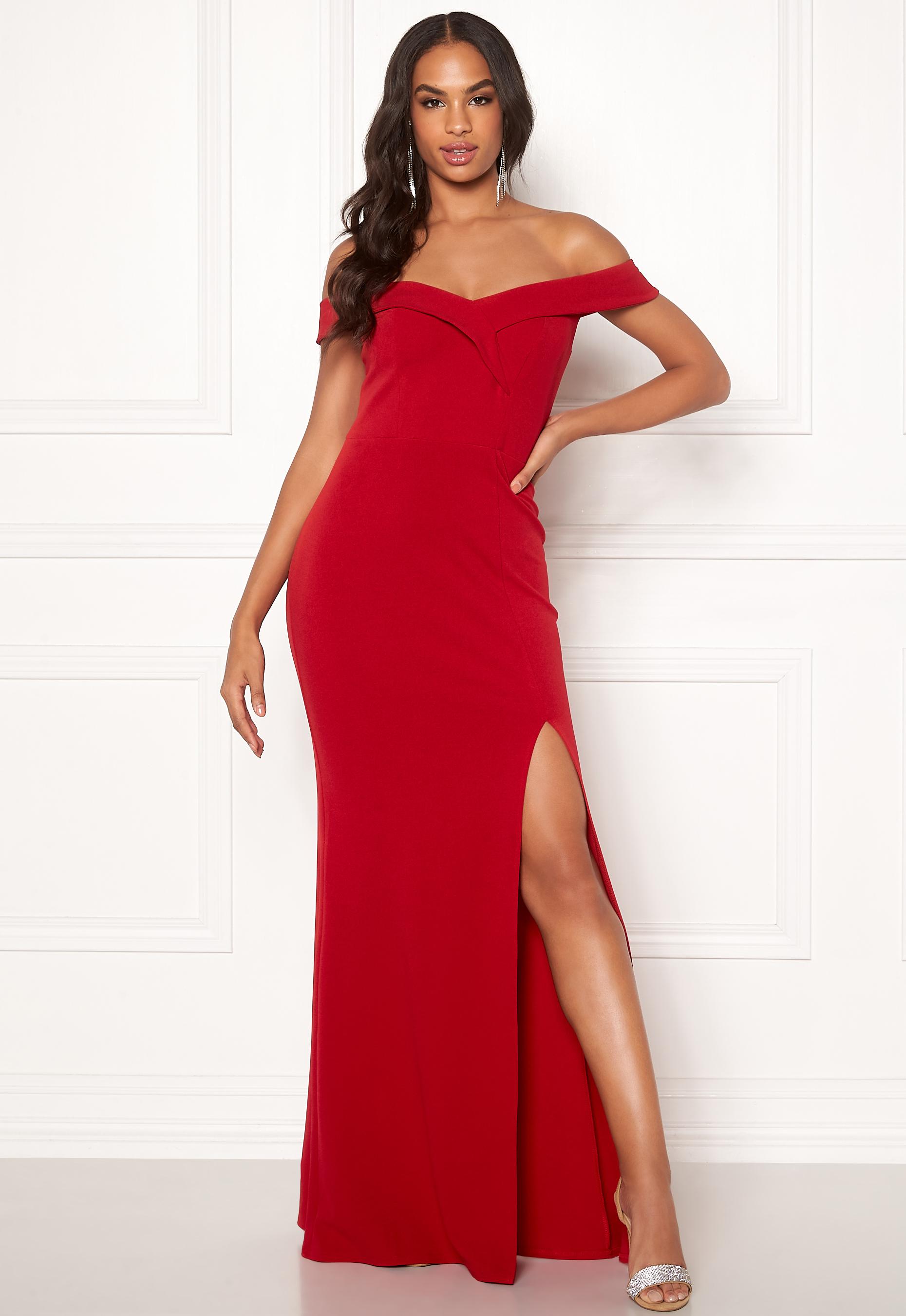 Red Sweetheart Floor Length Dress