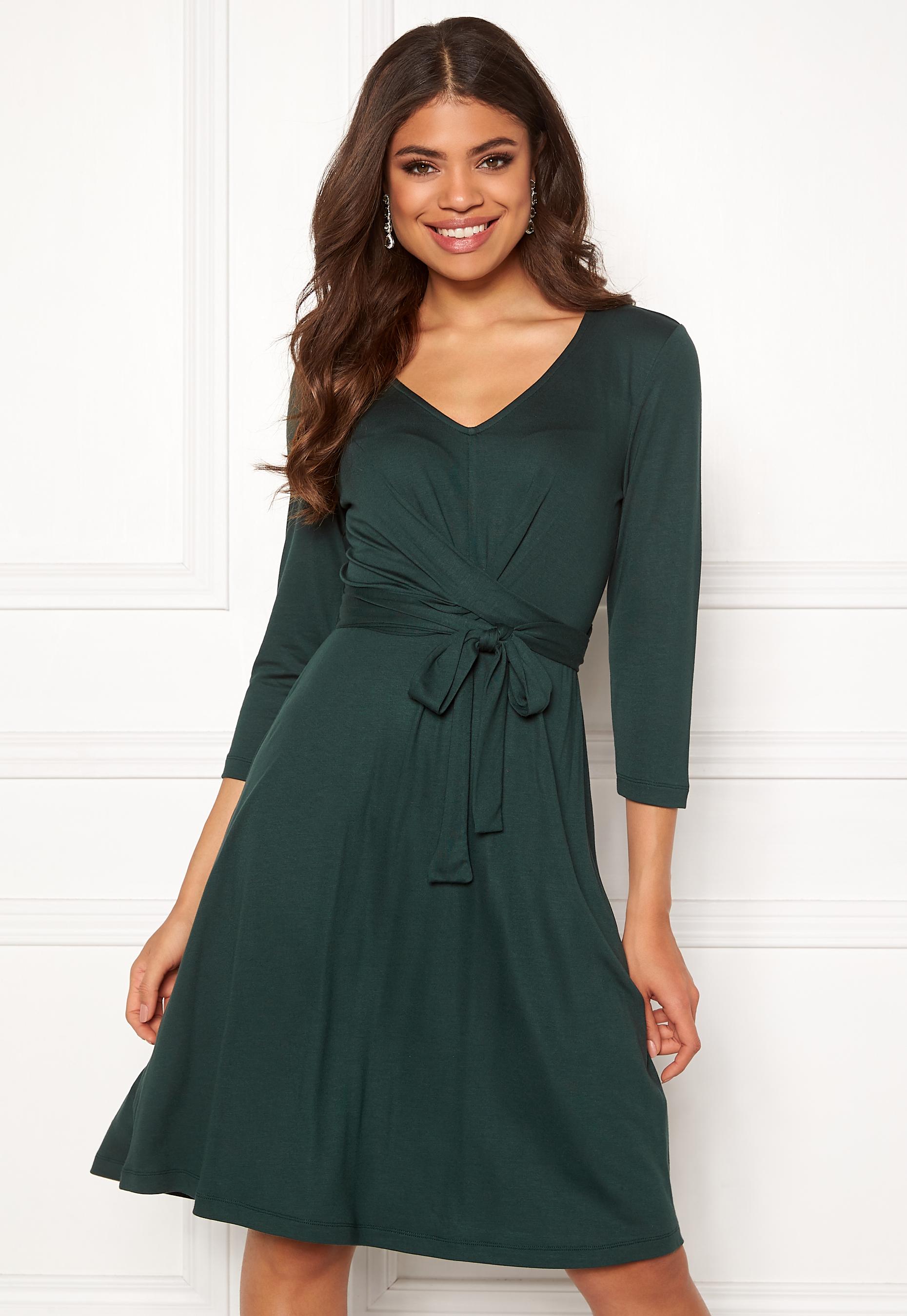 ef140210 Happy Holly Colette dress Dark green - Bubbleroom