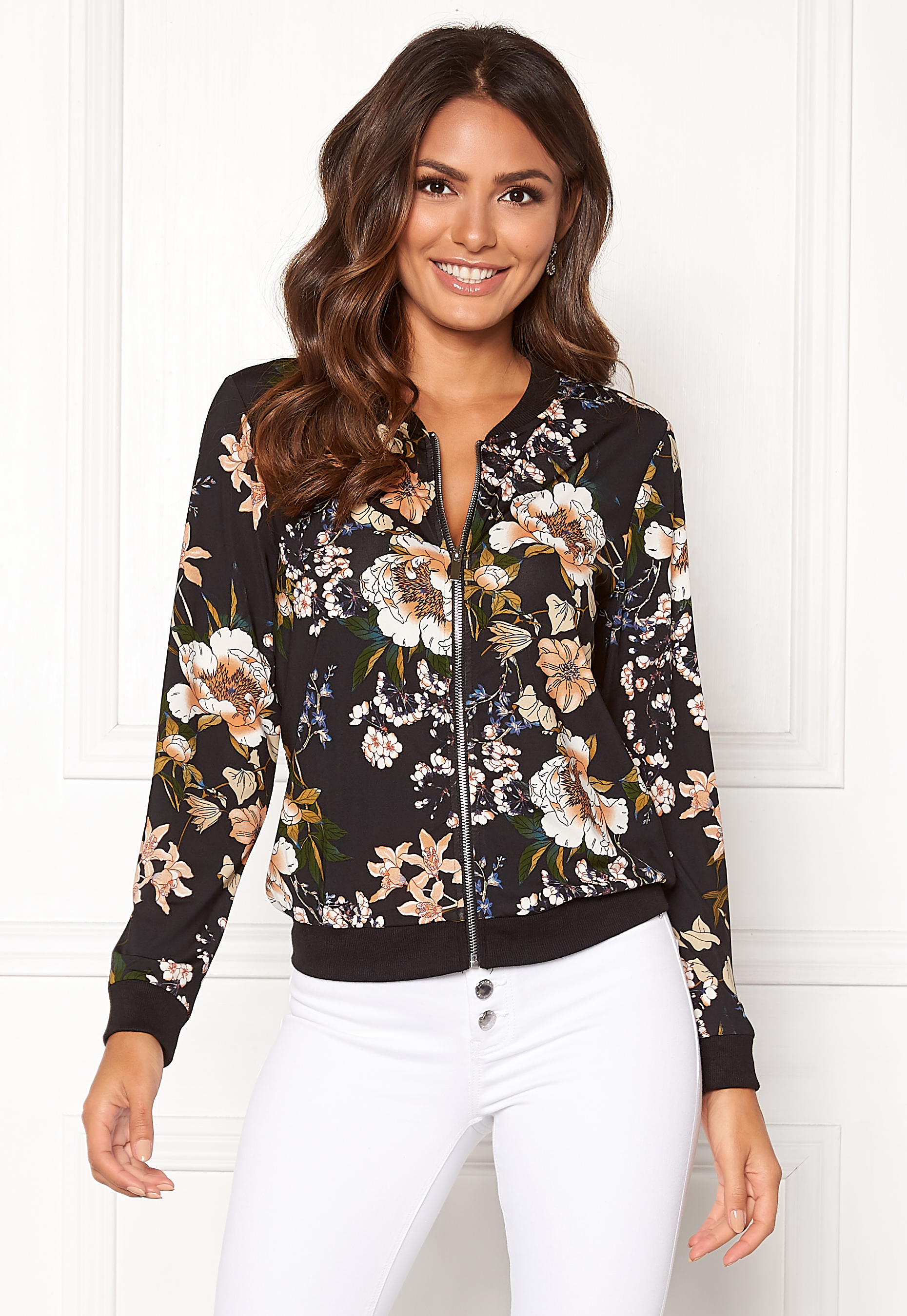 3d869392 Happy Holly Hanna jacket Black / Patterned - Bubbleroom
