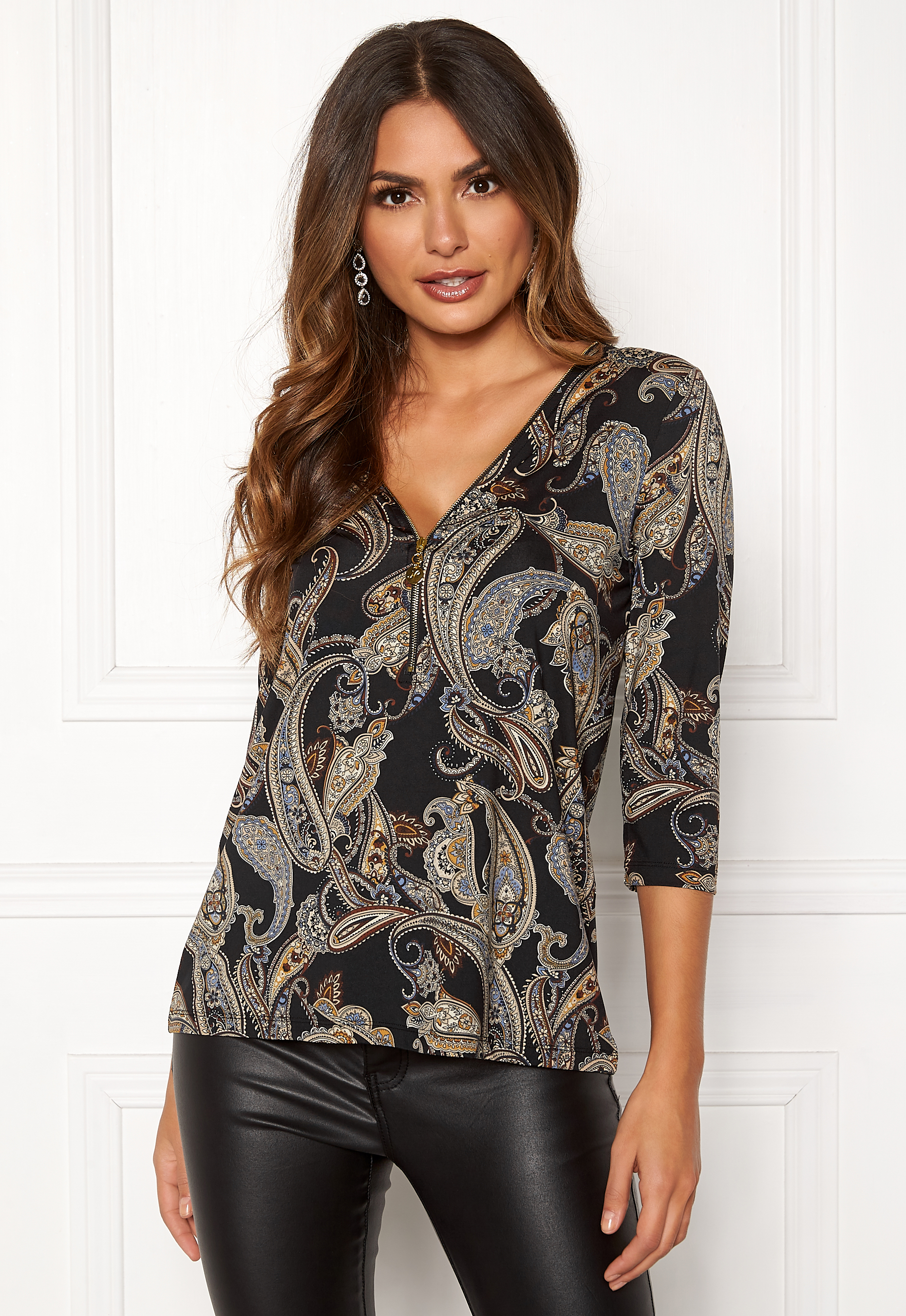 7bced3d81cda Happy Holly Marion top Patterned / Paisley - Bubbleroom
