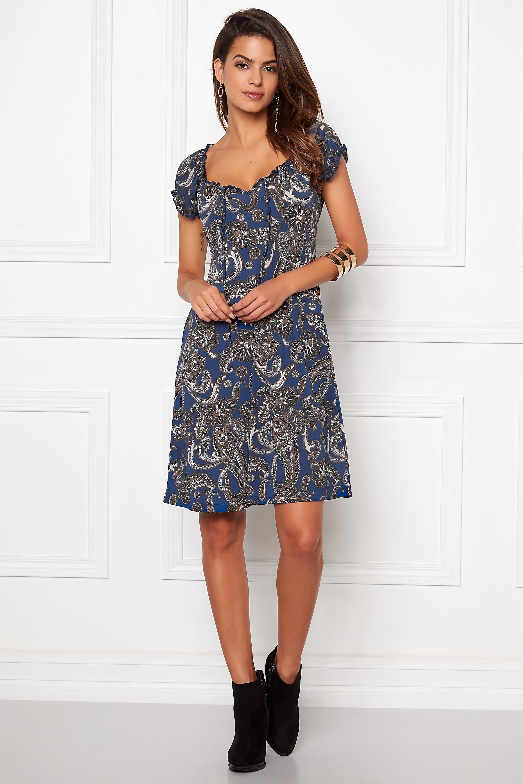 c7ad0b50a9b Happy Holly Tessan Dress Blue/Paisley - Bubbleroom