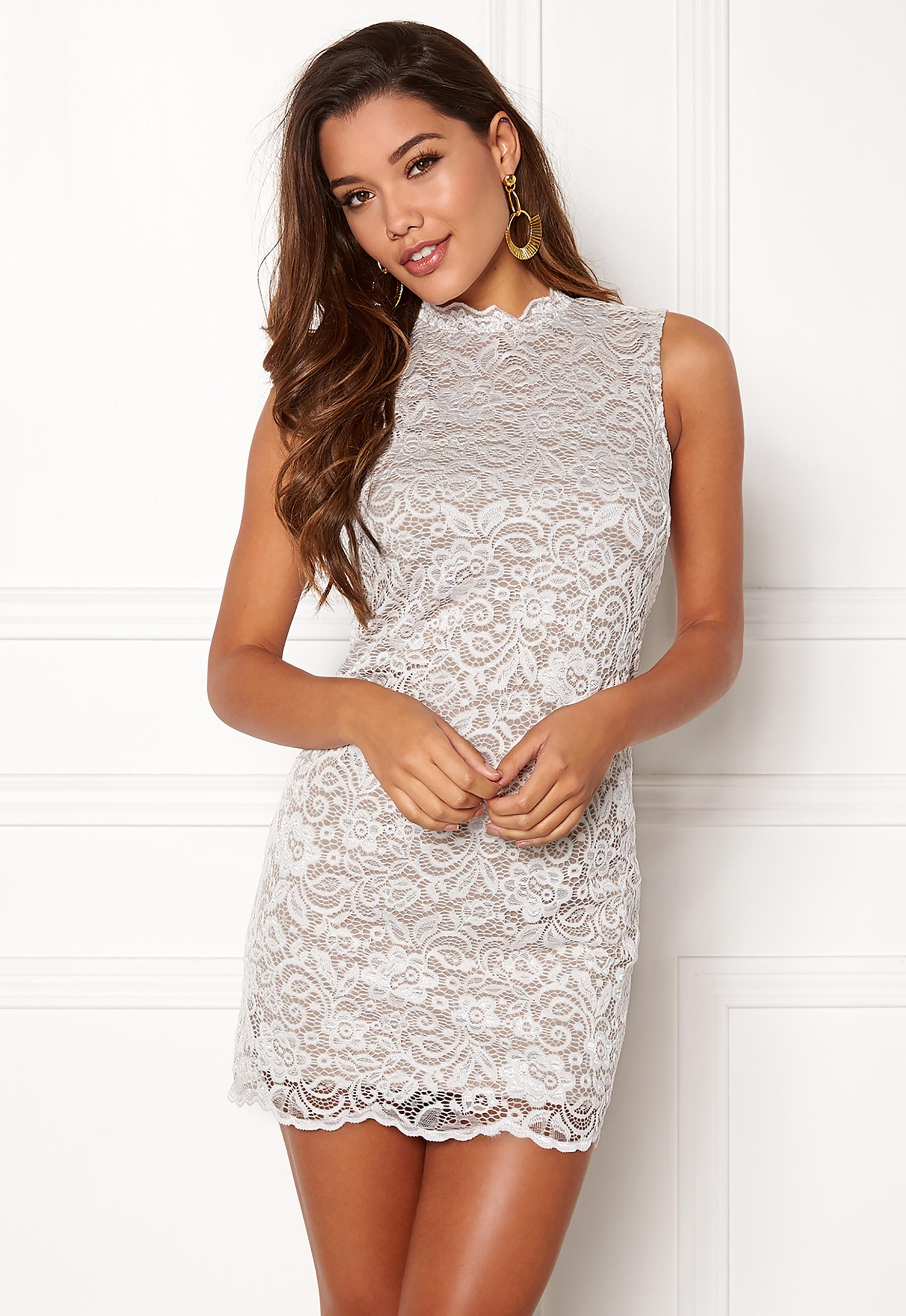Happy Holly Vienna Lace Dress White Mole Bubbleroom