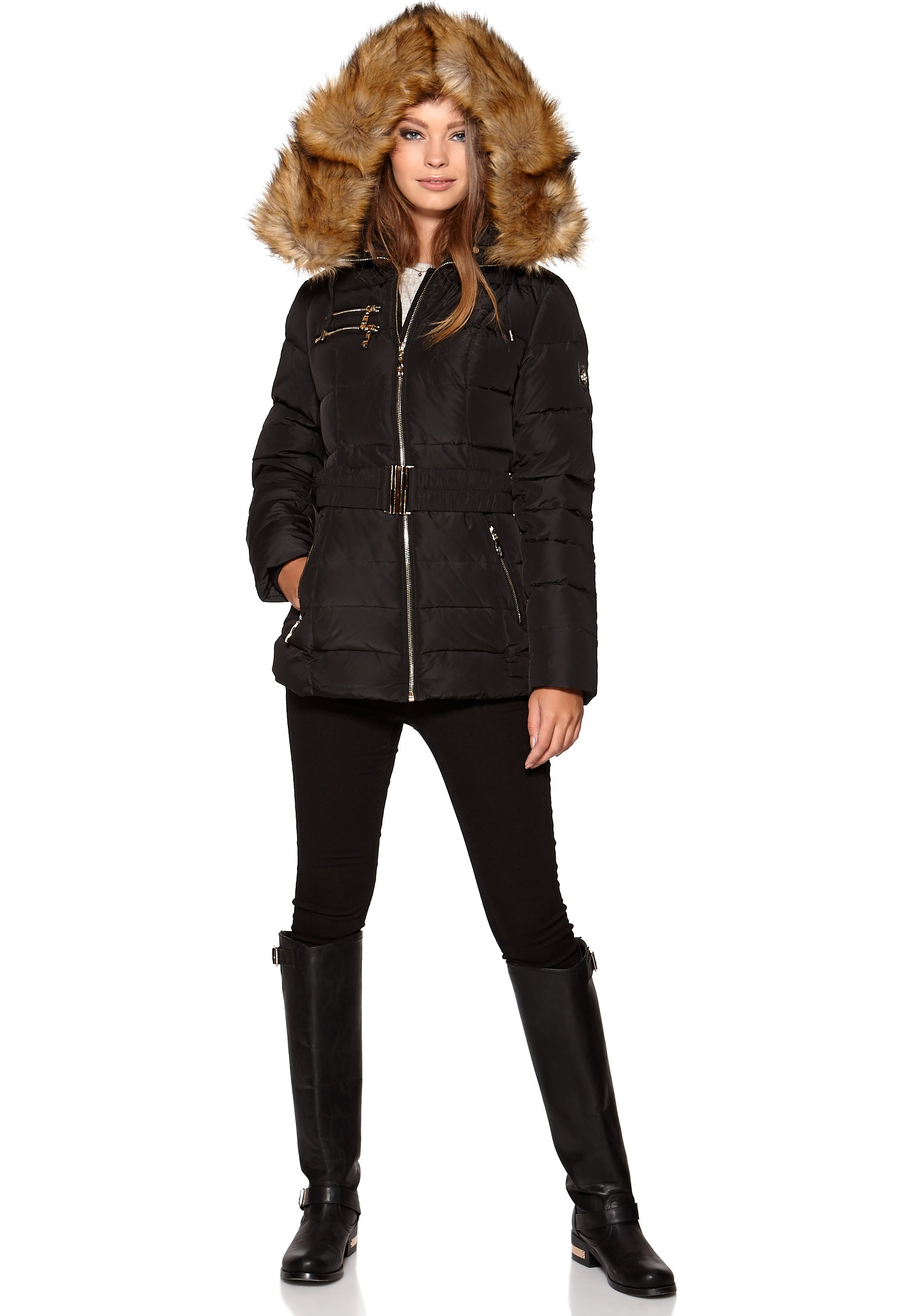 6121f728 Hollies Avoriaz Long Down Jacket Black - Bubbleroom