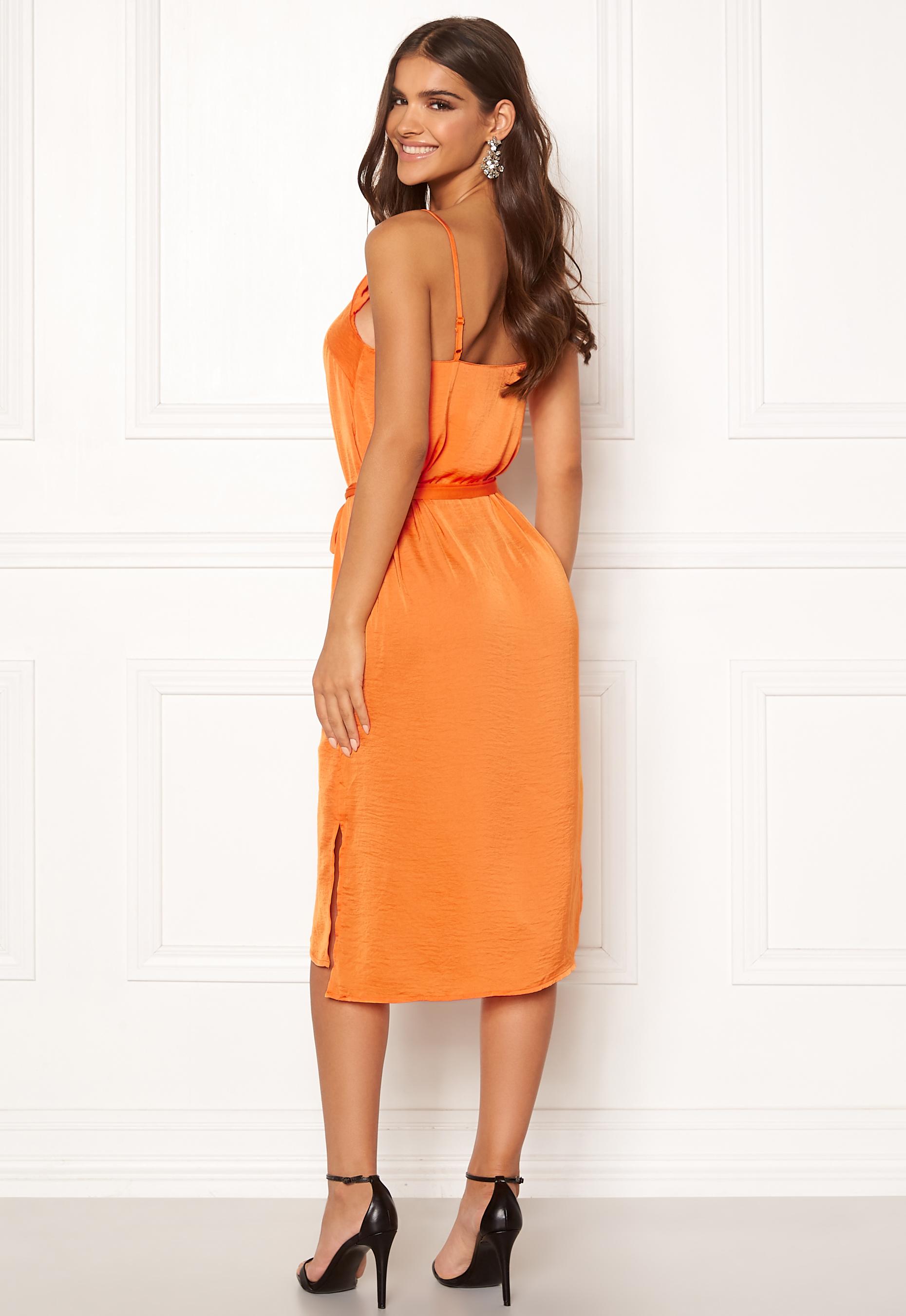 2d4dbb67 ICHI Crissy Dress 17667 Russet Orange - Bubbleroom