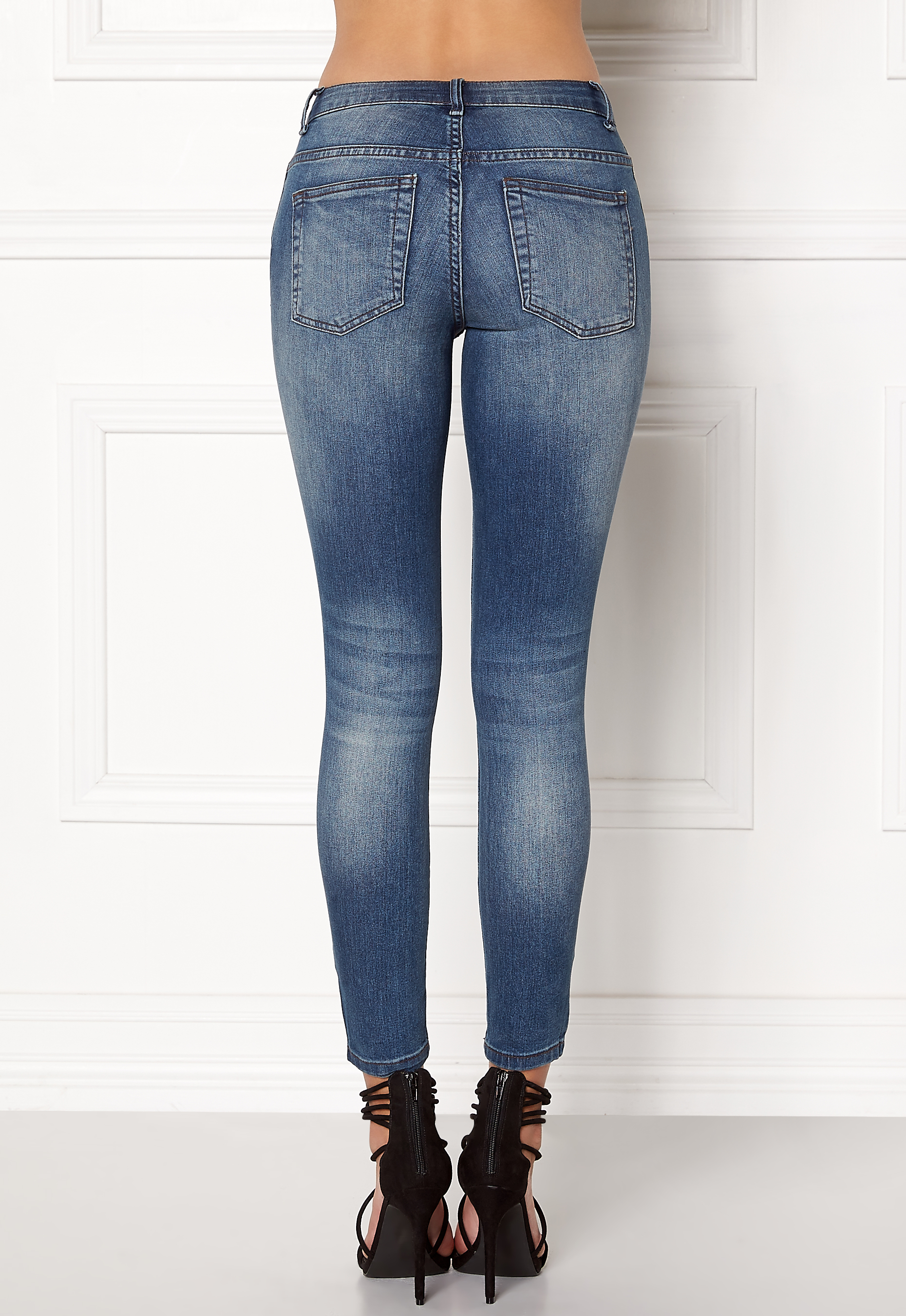 Mid Rise Skinny Jeans - Blue Jacqueline de Yong Browse Looking For The Cheapest For Sale Cheap Real jGsE5LuiSR