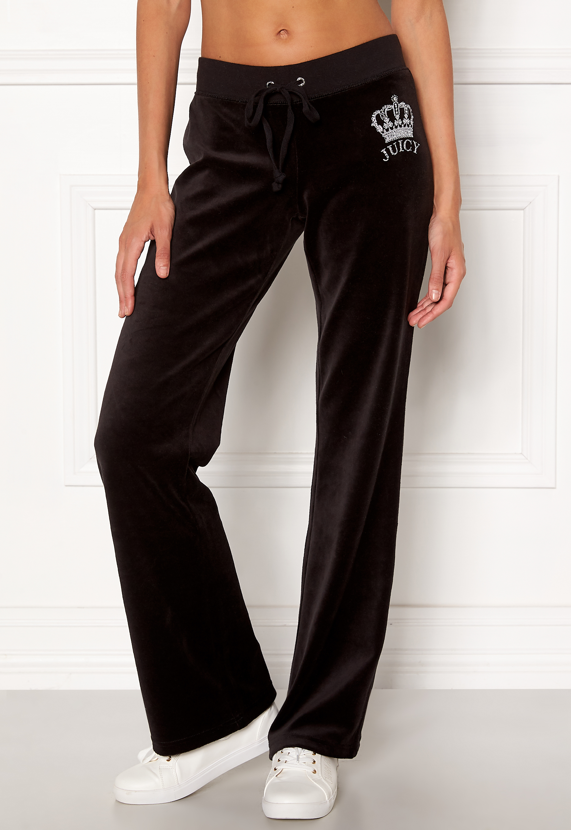 Juicy Couture Luxe Juicy Crown Pant Pitch Black Bubbleroom