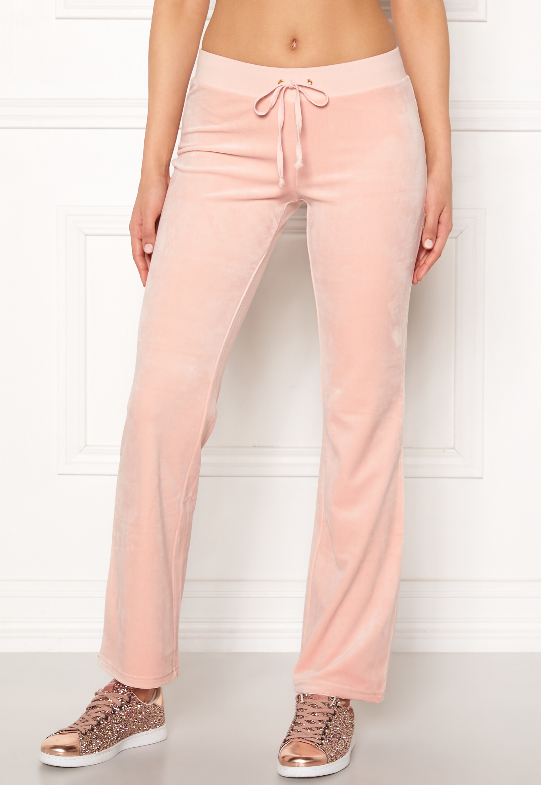 Juicy Couture Luxe Velour Del Rey Pant Pink Shadow Bubbleroom