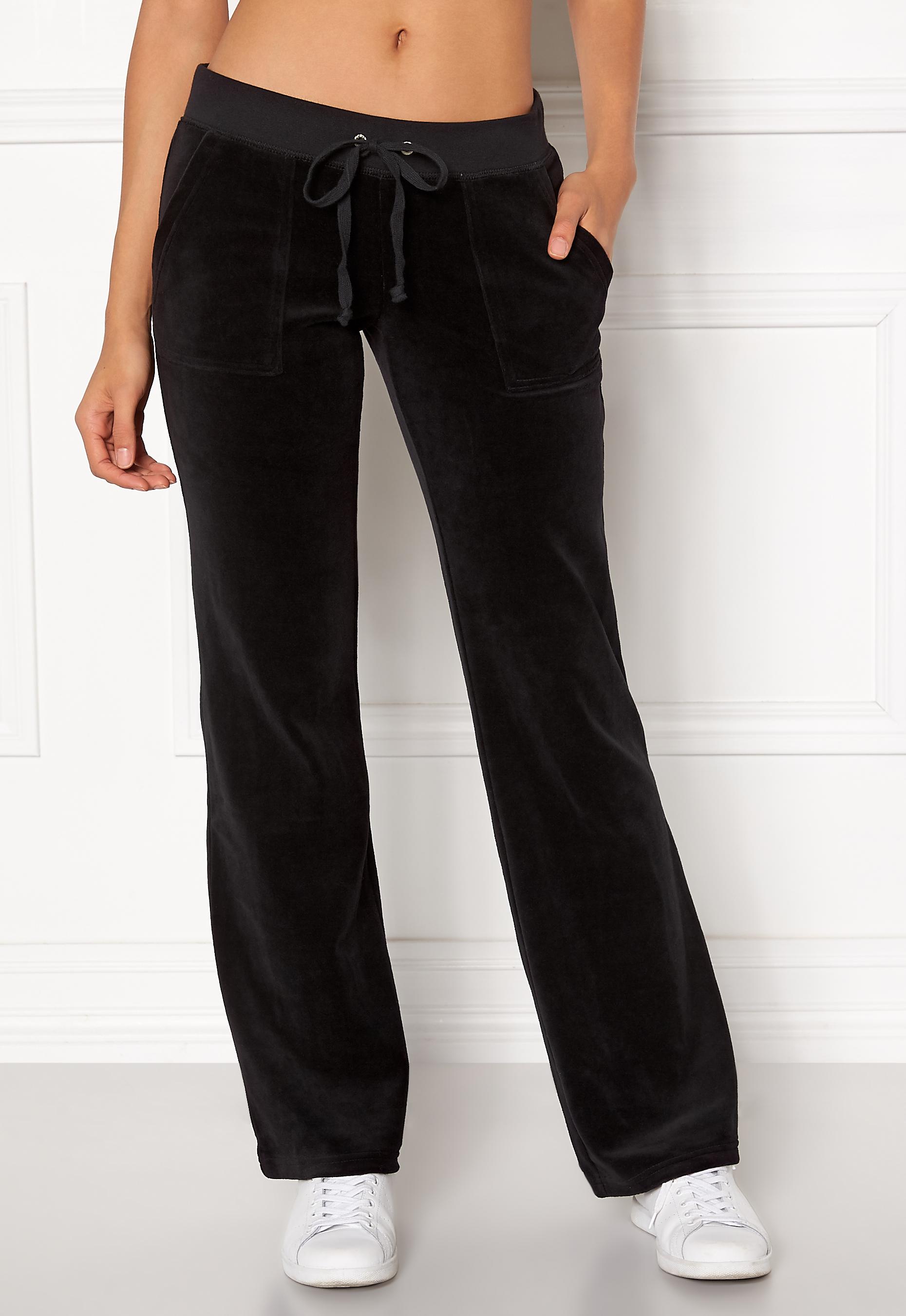 Juicy Couture Velour Del Rey Pant Pitch Black Bubbleroom