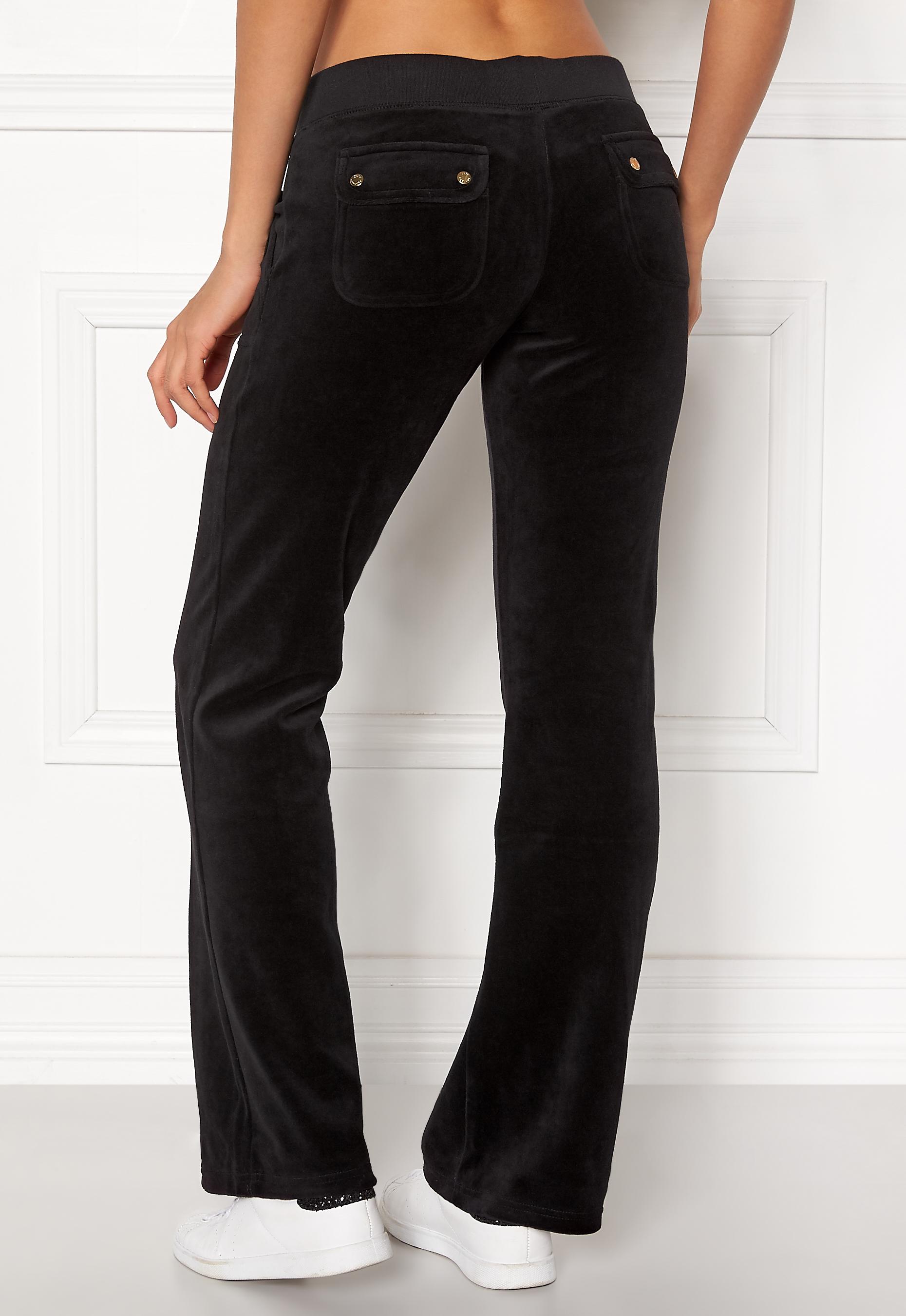 Juicy Couture Velour Del Rey Pant Pitch Black - Bubbleroom 011fd0527