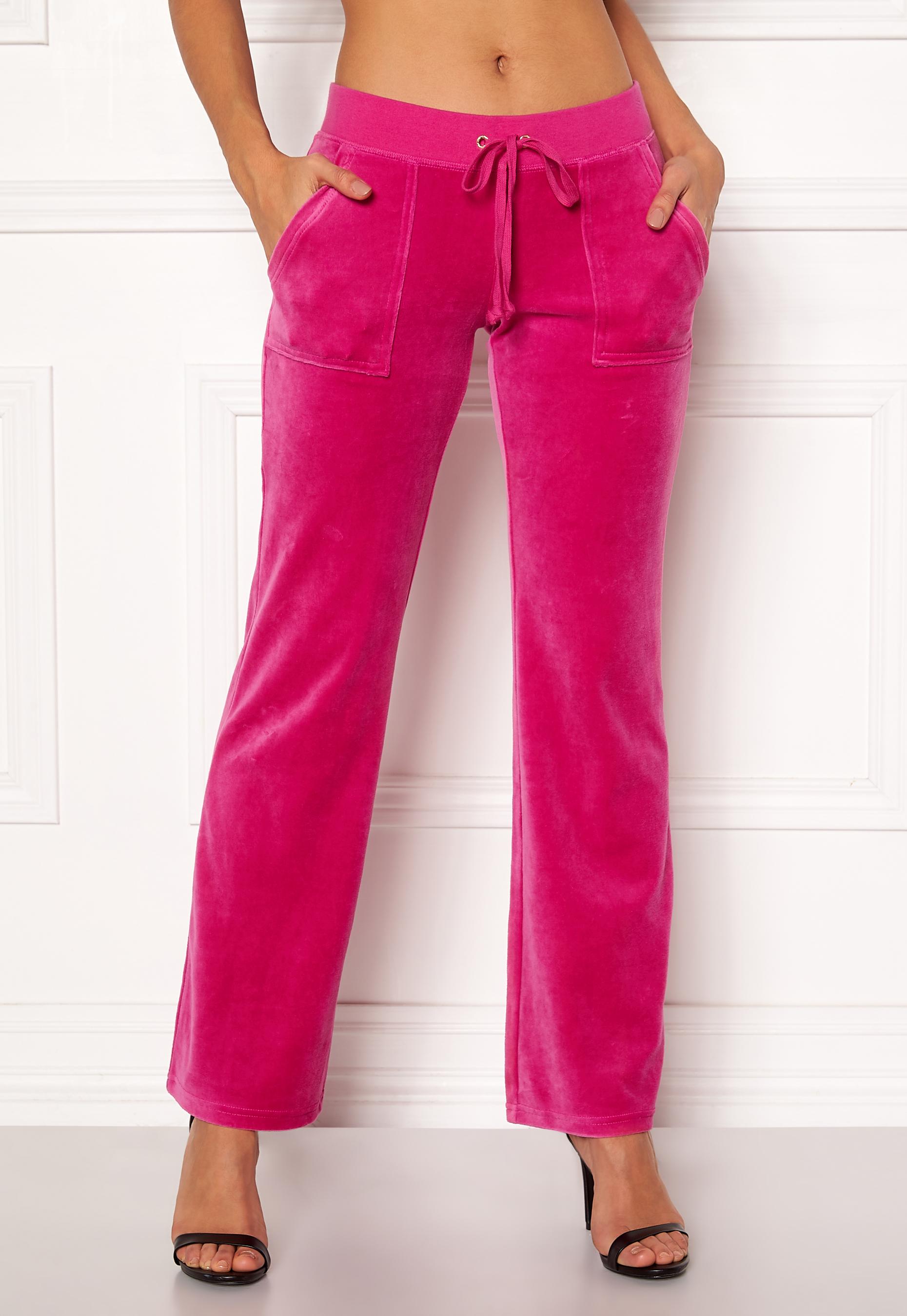 561f1b16149e Juicy Couture Velour Del Rey Pant Raspberry Pink - Bubbleroom