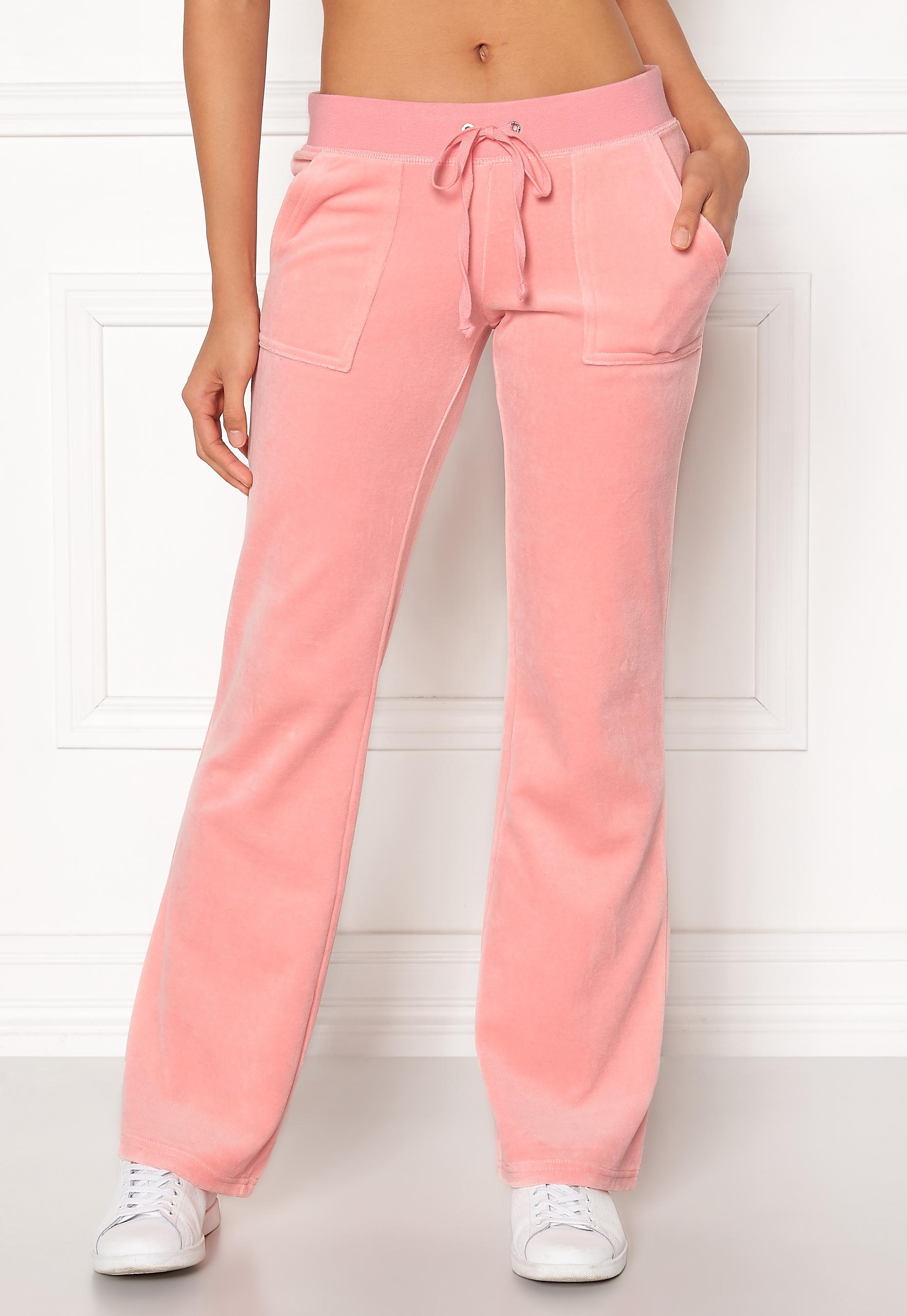 fcd9d70d Juicy Couture Velour Del Rey Pant Sorbet Pink - Bubbleroom