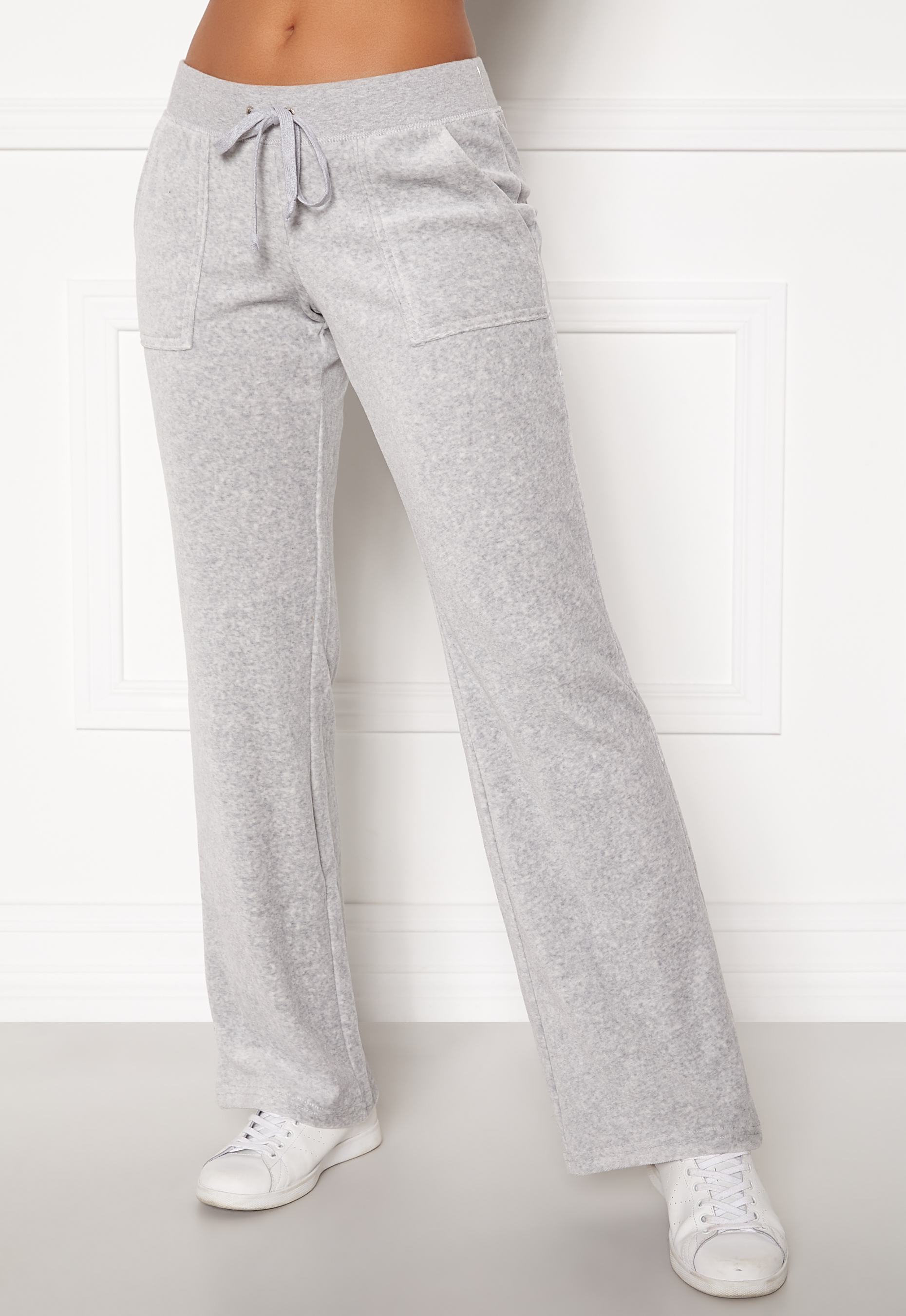Juicy Couture Velour On Going Pant Silver Lining Bubbleroom