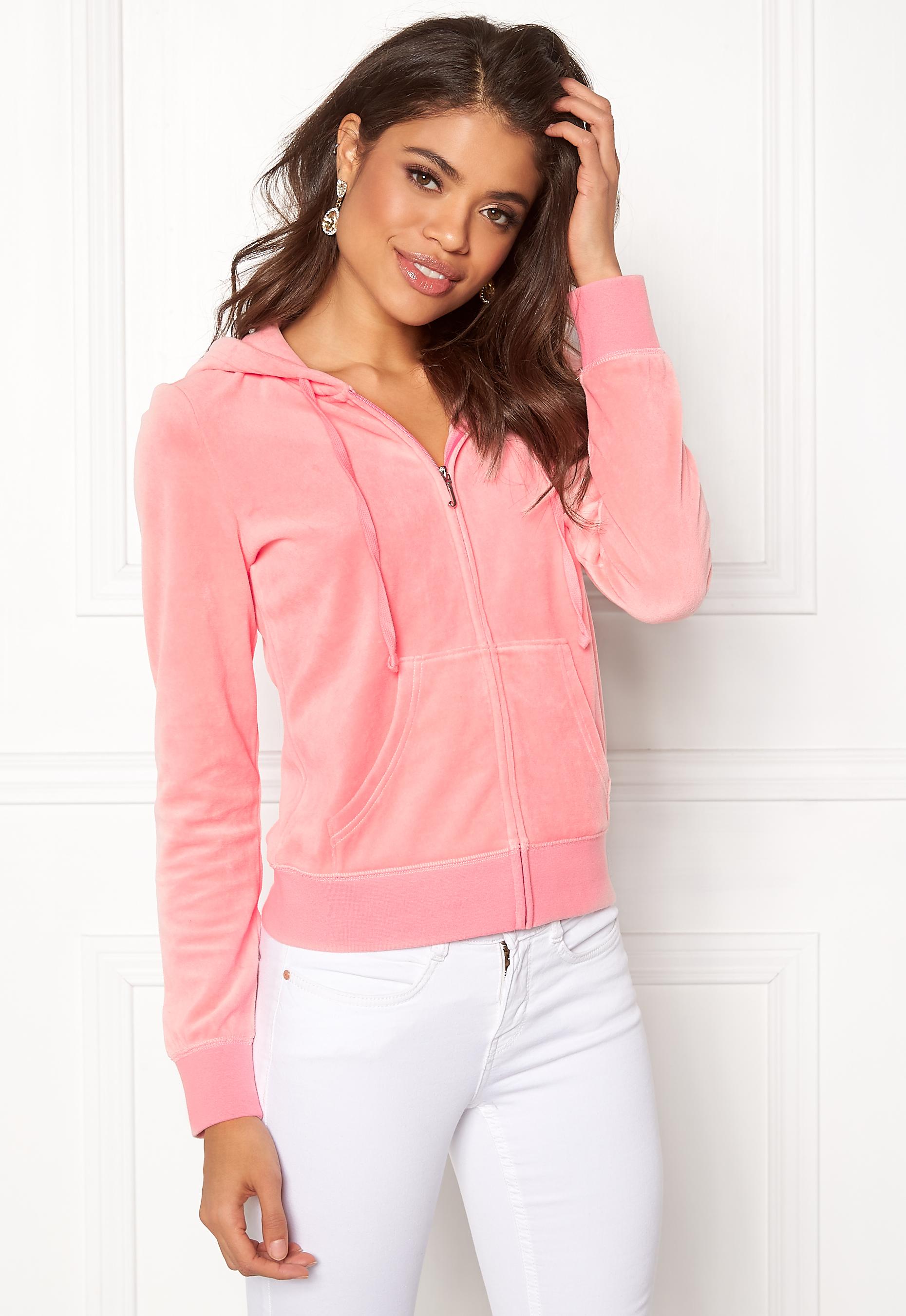 e2d412c2 Juicy Couture Velour Robertson Jacket Sorbet Pink - Bubbleroom